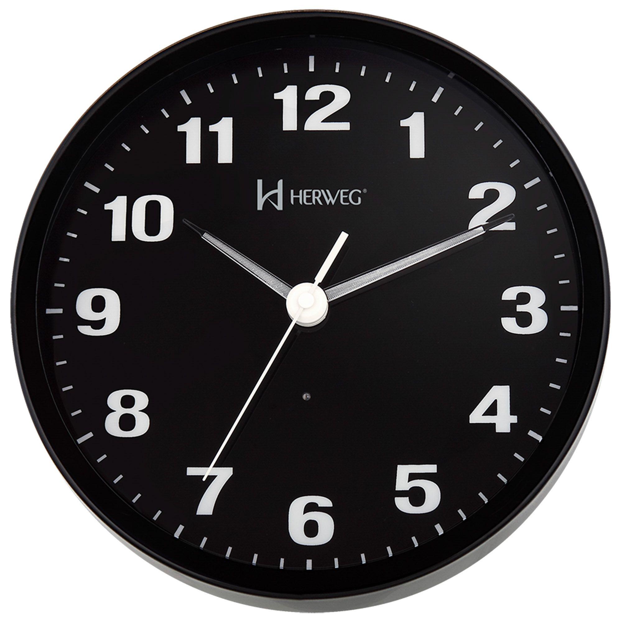 Relógio de Parede Analógico Herweg 6377 034 Preto