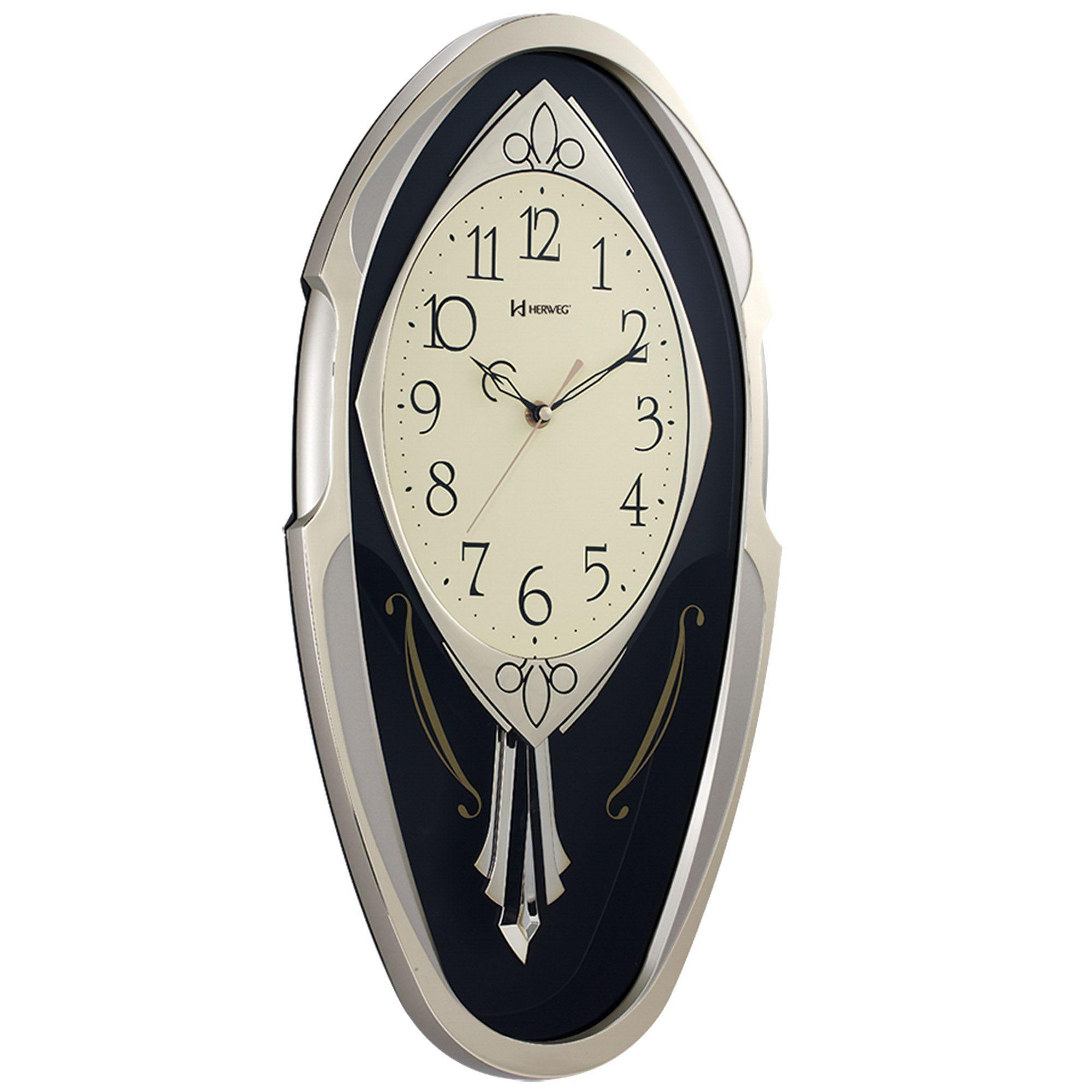 Relógio de Parede Pêndulo Herweg 6389 245 Ouro Envelhecido