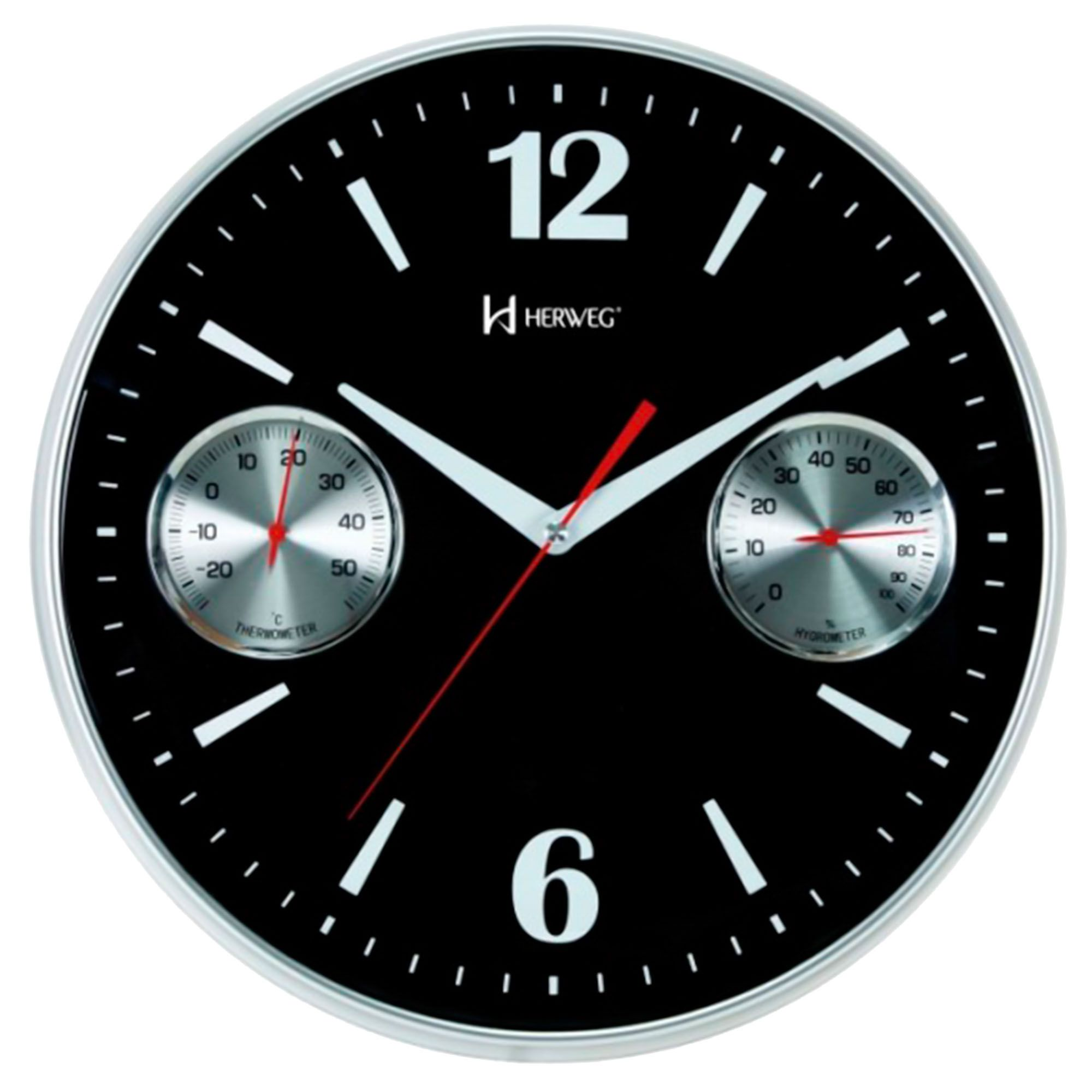 Relógio de Parede Analógico Herweg 6441 034 Preto