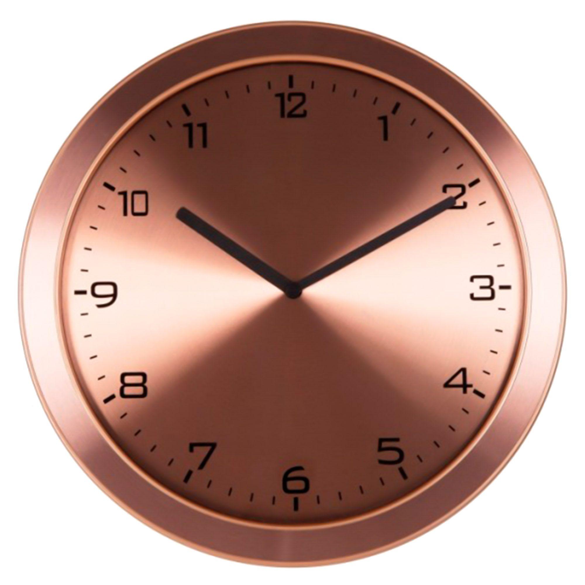 Relógio de Parede Analógico Herweg 6456 309 Rosê