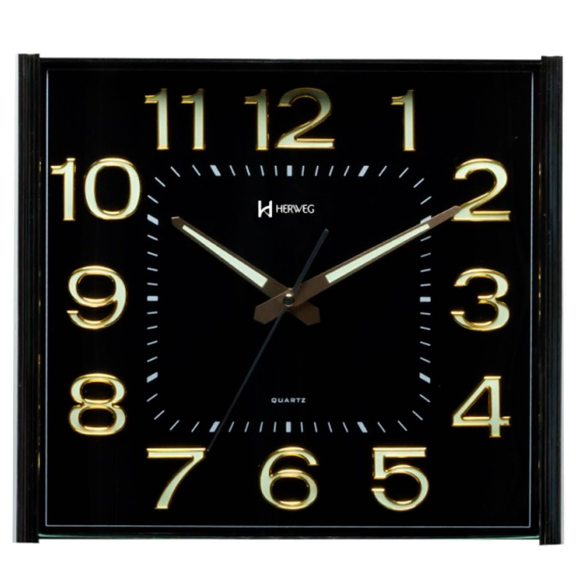 Relógio de Parede Analógico Herweg 6460 029 Dourado