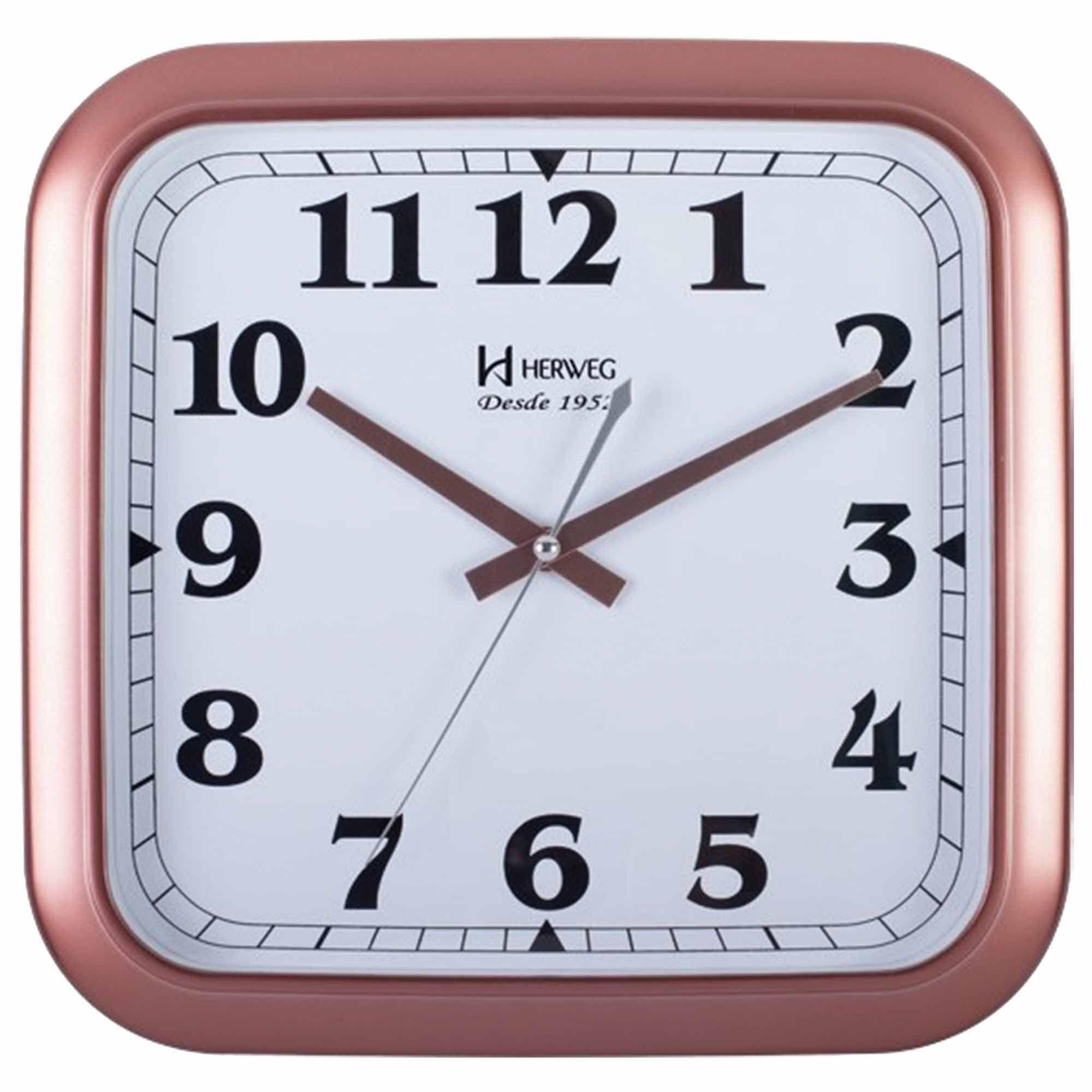 Relógio de Parede Analógico Herweg 6466 309 Rosê