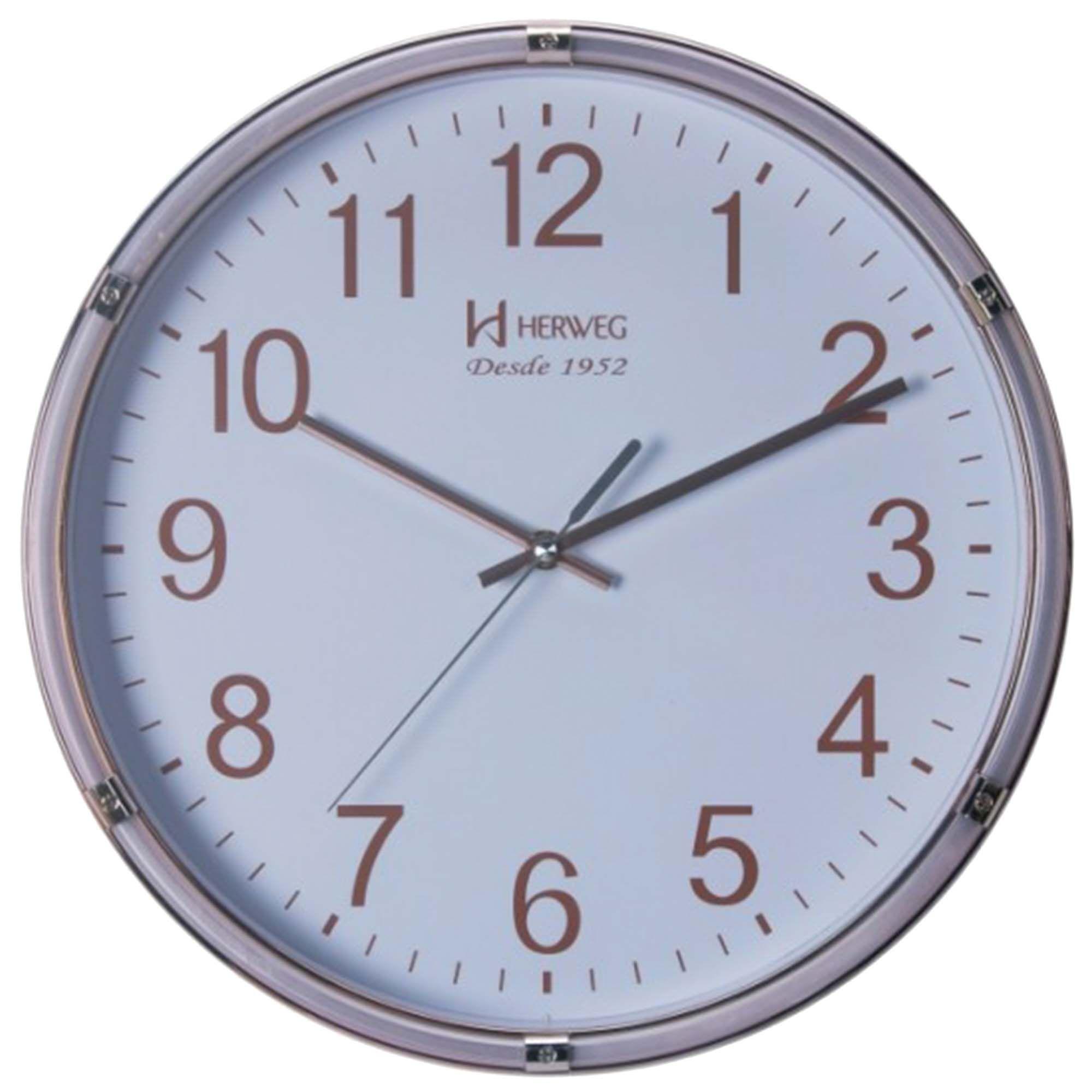 Relógio de Parede Analógico Herweg 6470 029 Dourado Claro