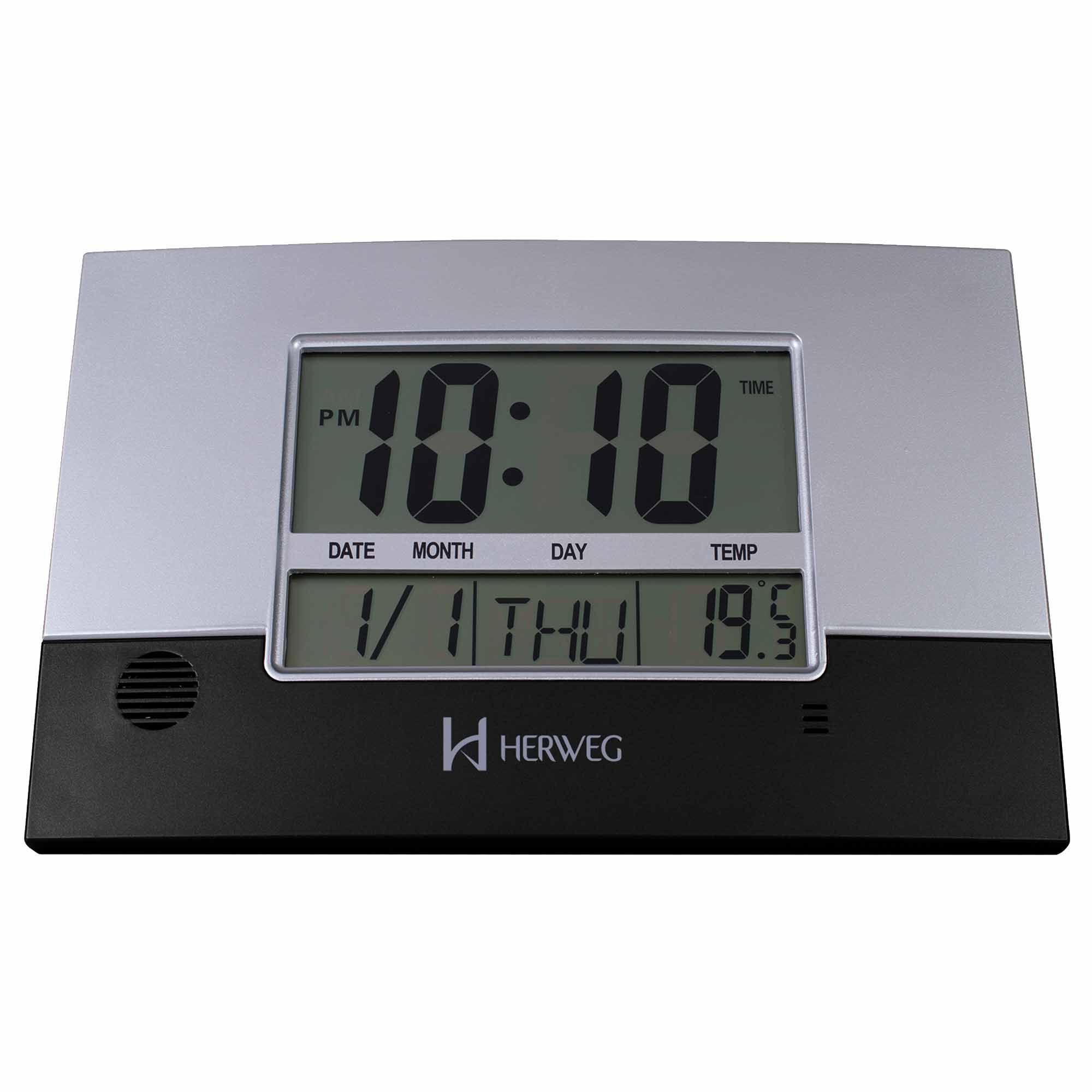 Relógio de Parede Digital Herweg 6473 034 Preto