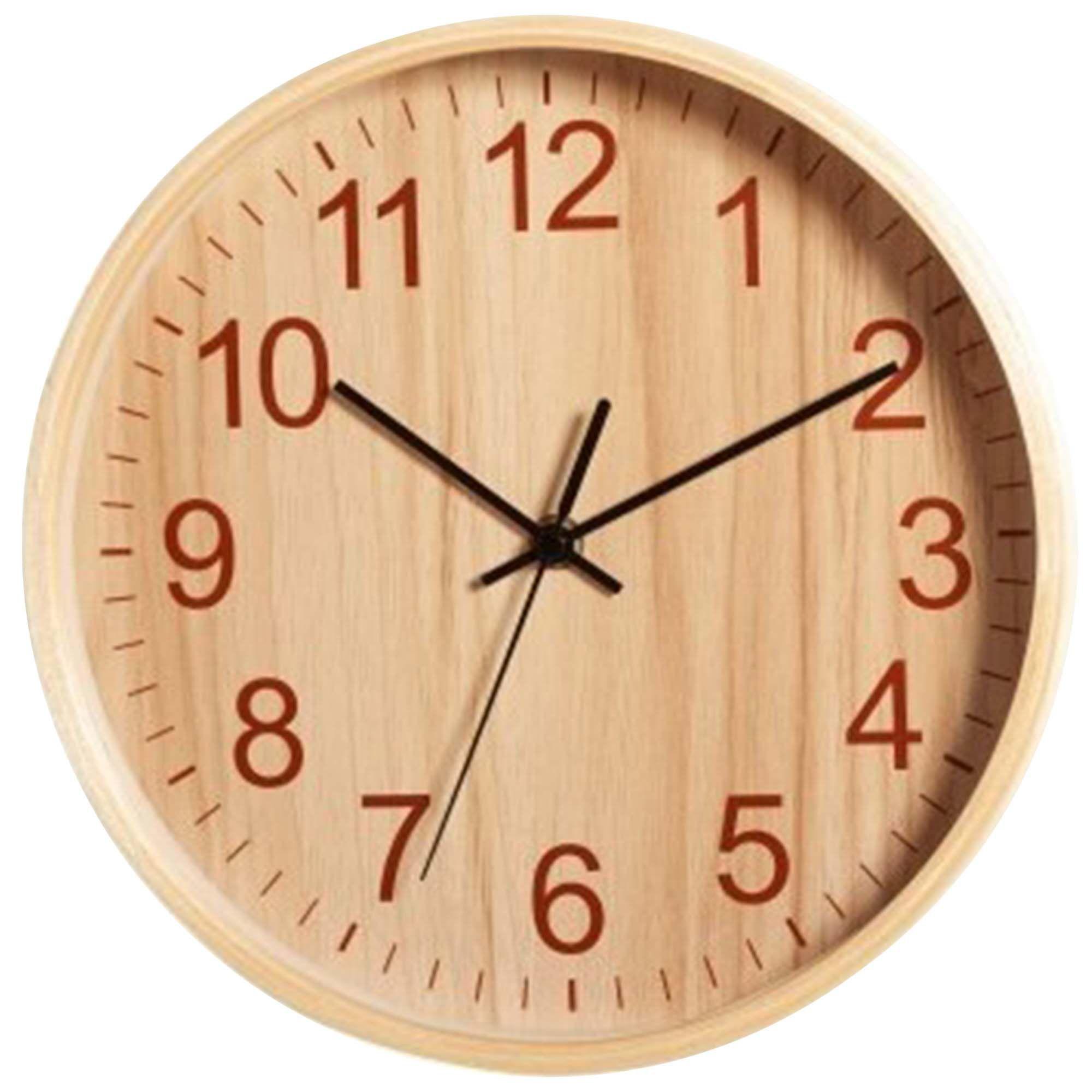 Relógio de Parede Analógico Herweg 6479 296 Carvalho