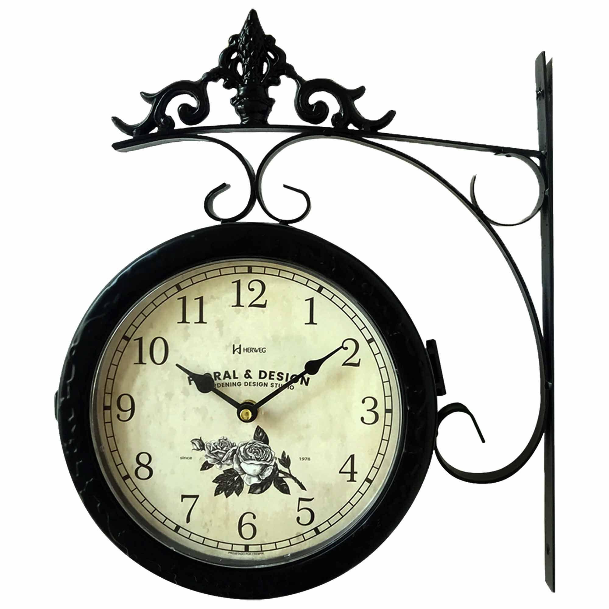 Relógio de Parede Jardim Herweg 6488 034 Preto