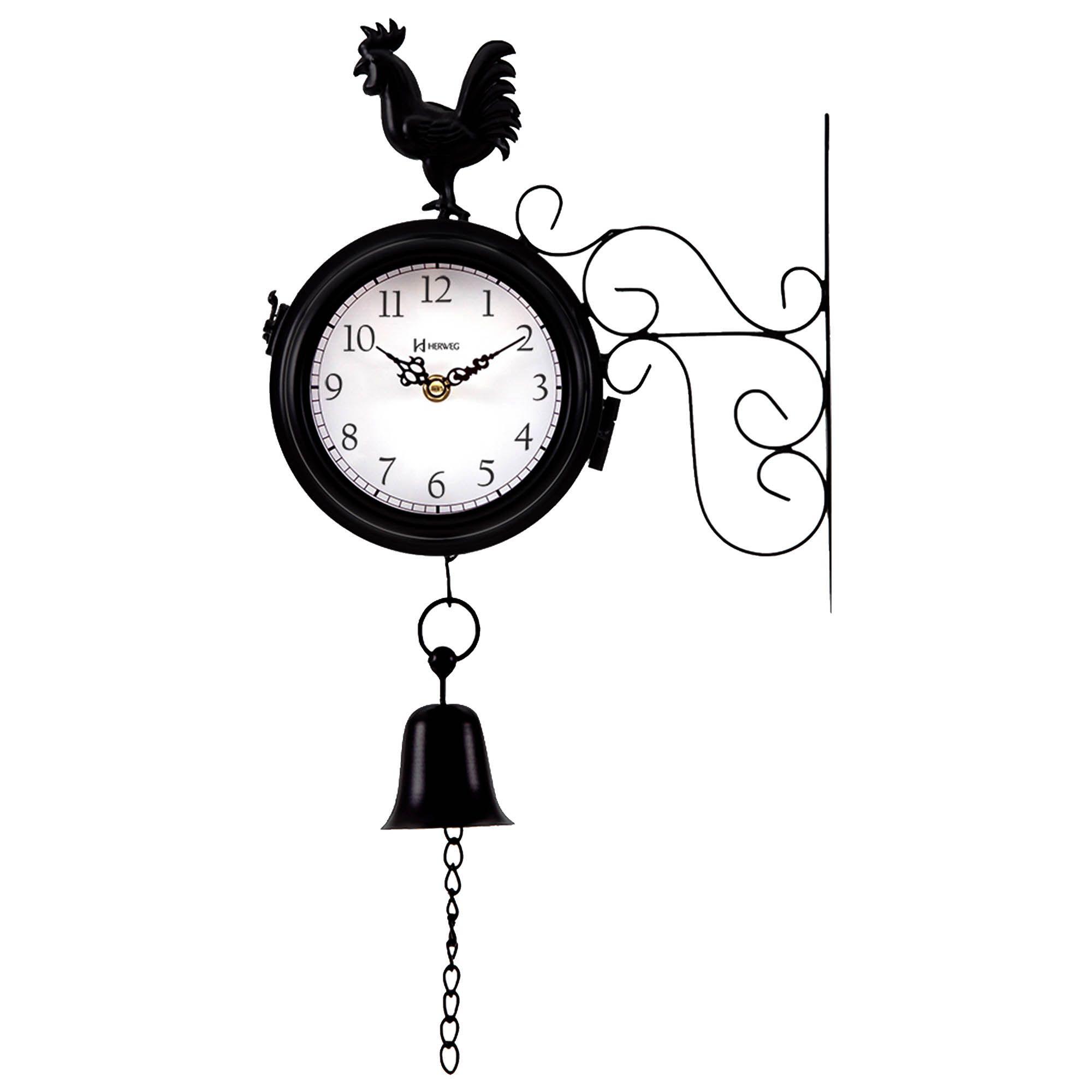 Relógio de Parede Jardim Herweg 6489 034 Preto