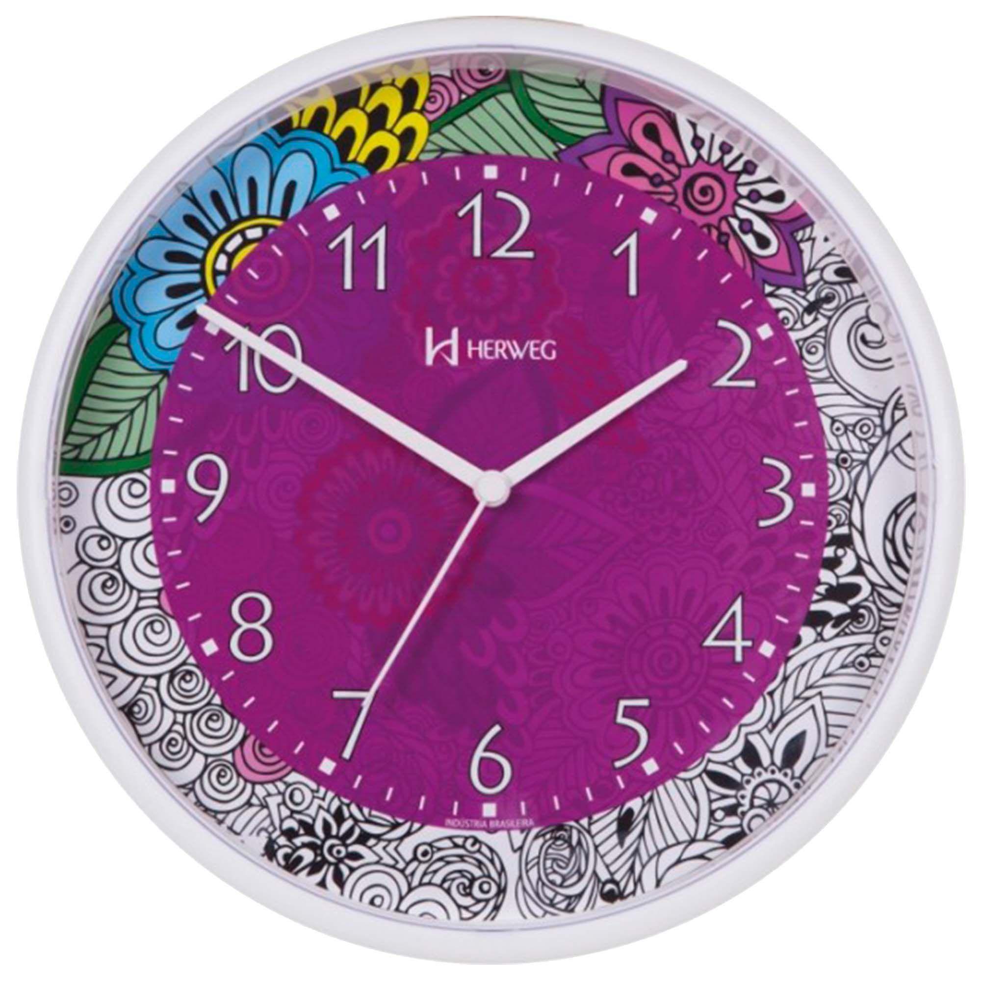 Relógio de Parede Analógico Herweg 660003 021 Branco