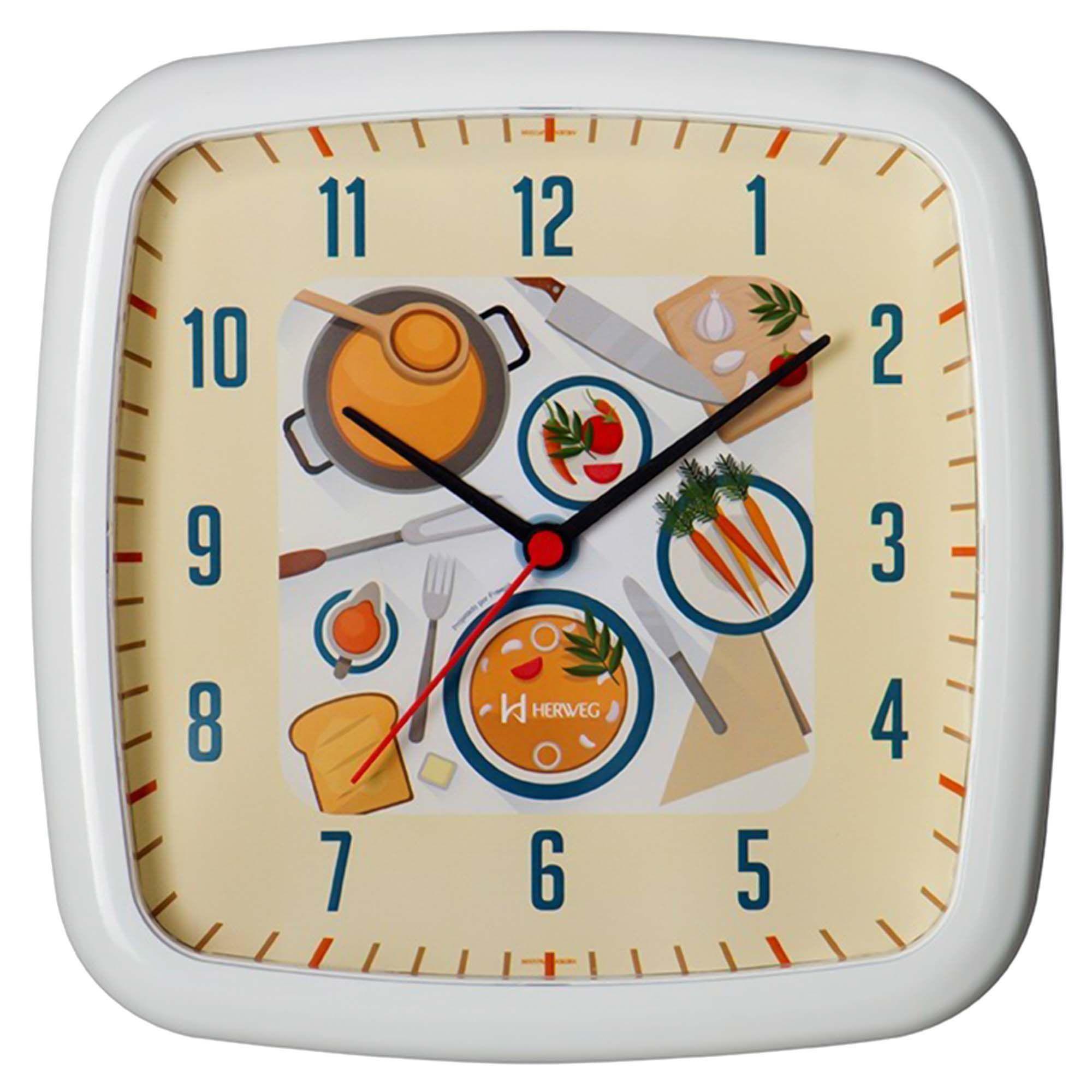 Relógio de Parede Analógico Herweg 660009 021 Branco