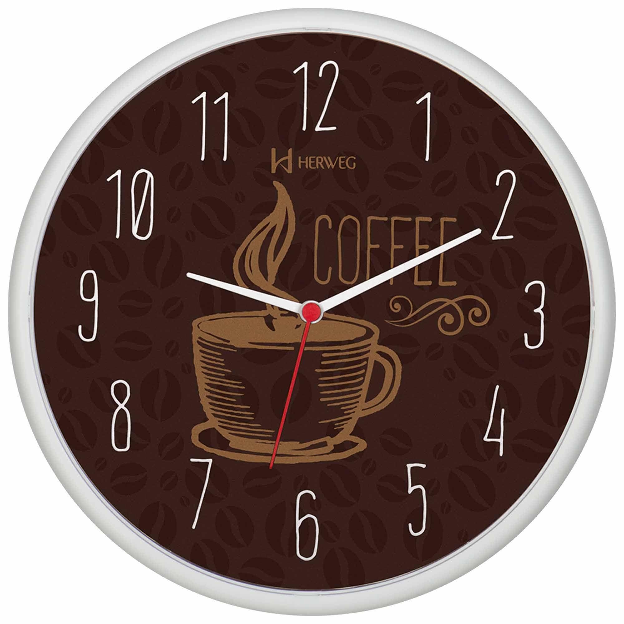 Relógio de Parede Analógico Herweg 660014 021 Branco