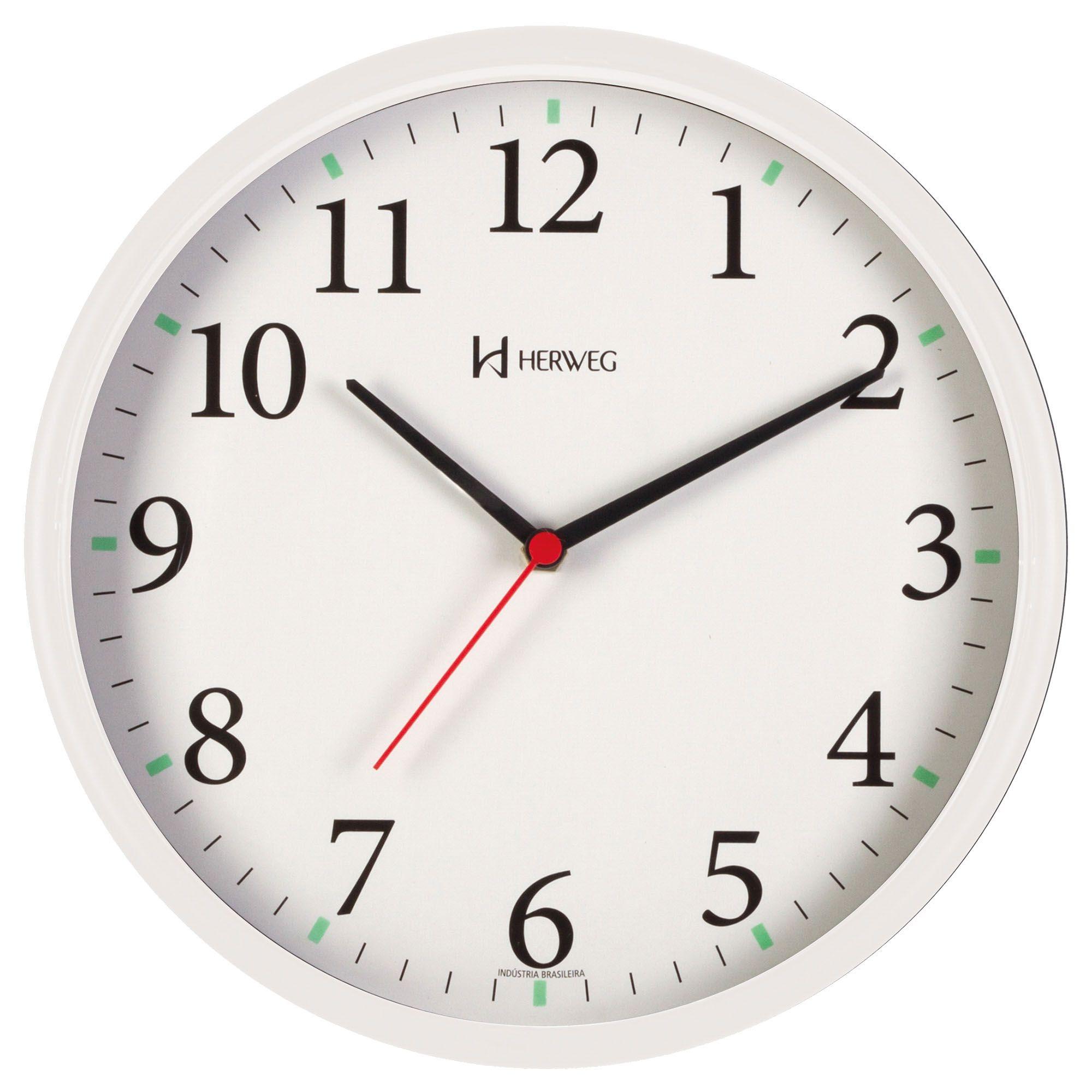Relógio de Parede Analógico Herweg 660022 021 Branco