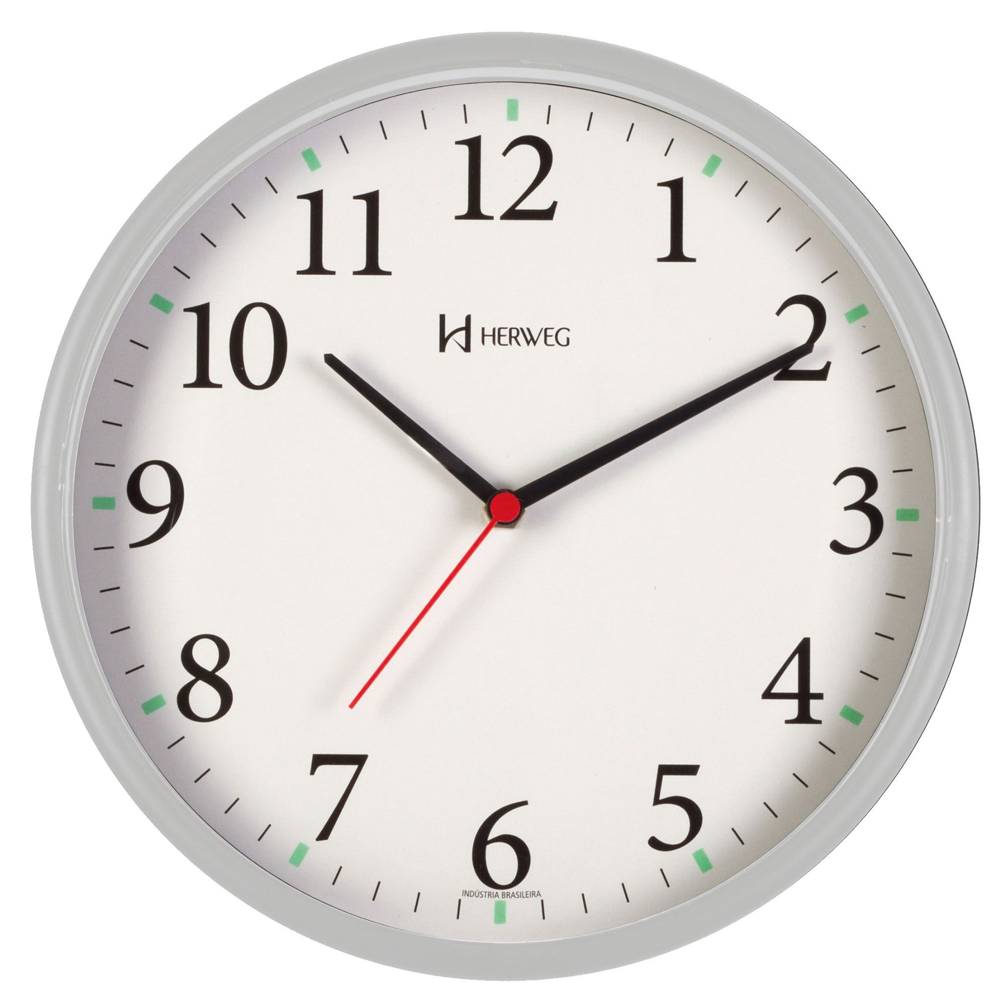 Relógio de Parede Analógico Herweg 660022 024 Cinza