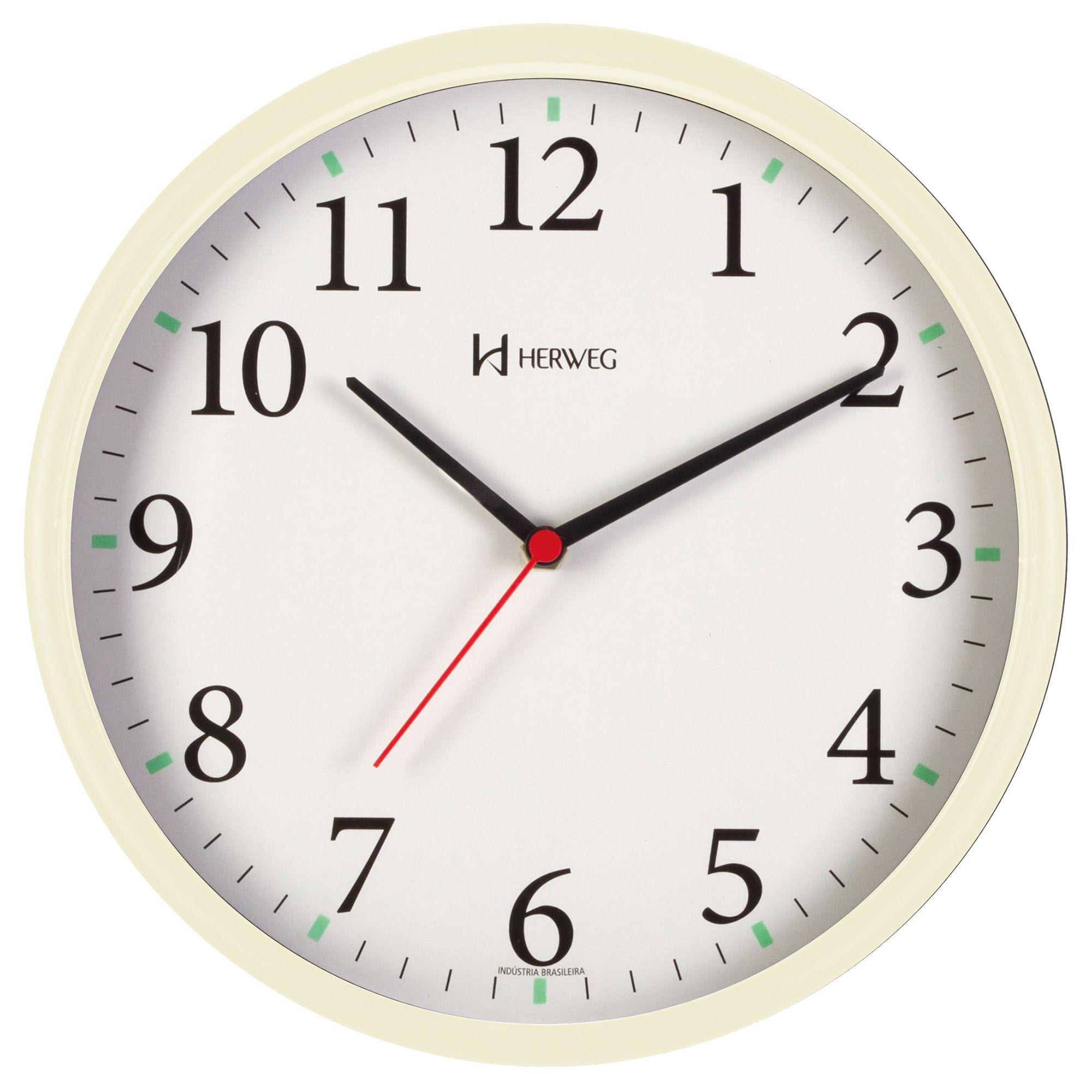 Relógio de Parede Analógico Herweg 660022 032 Marfim