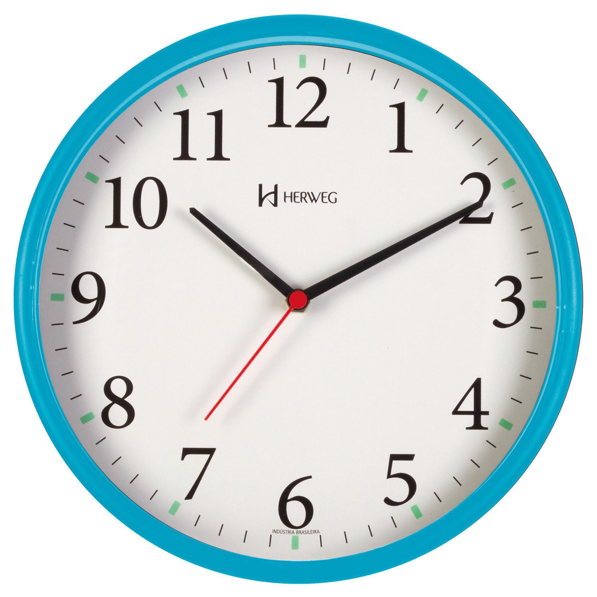 Relógio de Parede Analógico Herweg 660022 267 Turquesa Pantone