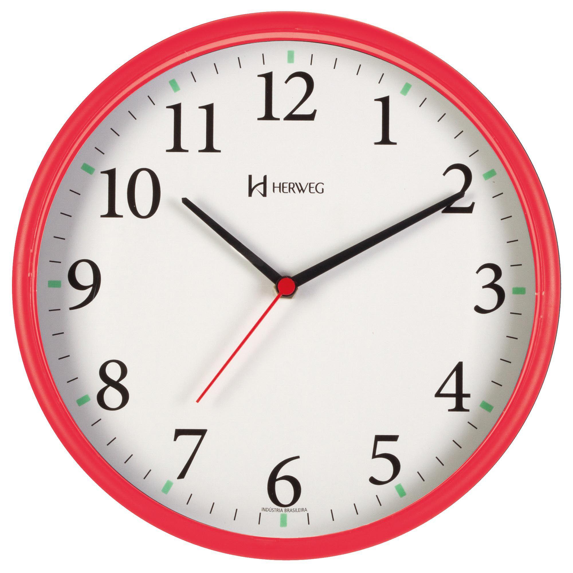 Relógio de Parede Analógico Herweg 660022 269 Vermelho Pantone