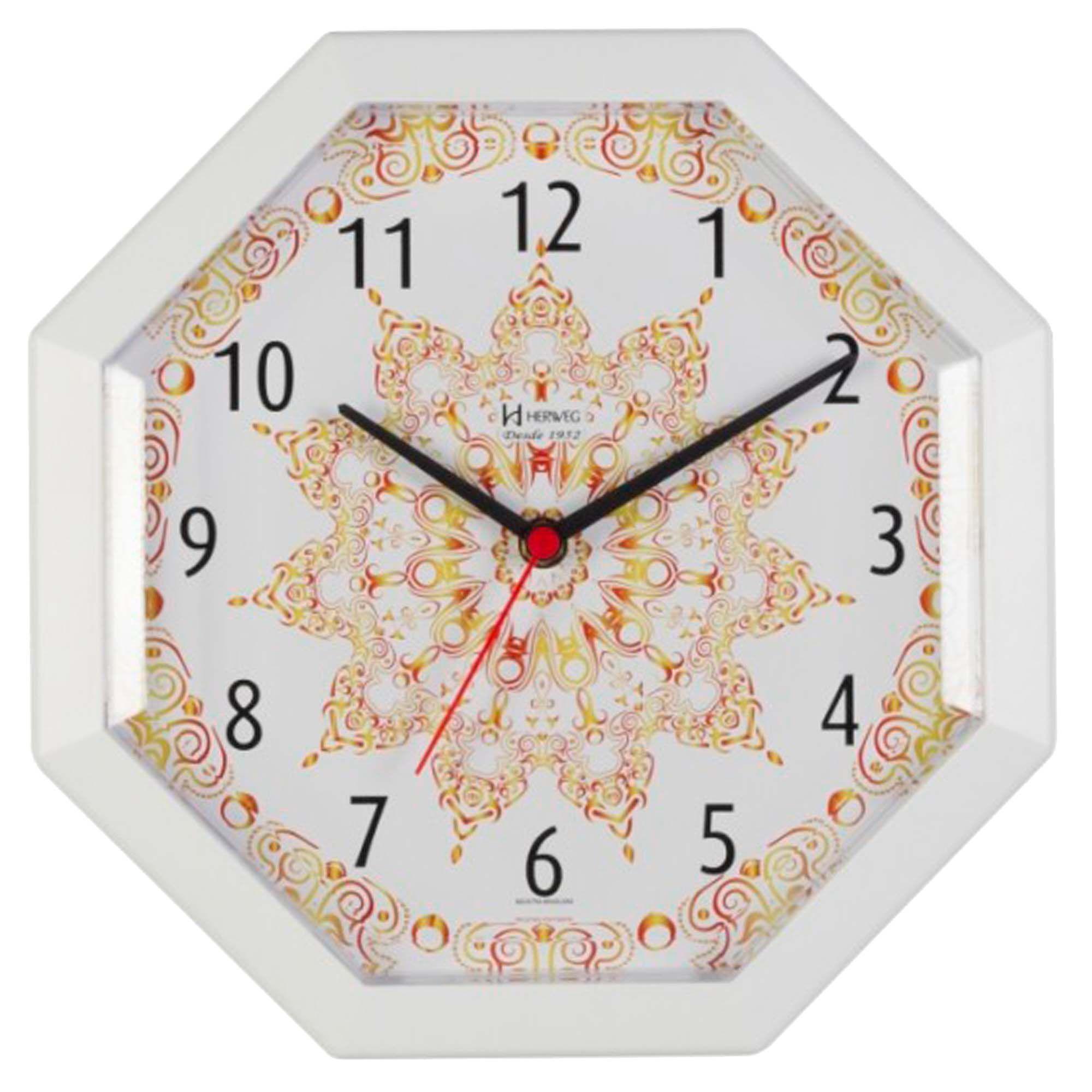Relógio de Parede Analógico Herweg 660024 021 Branco