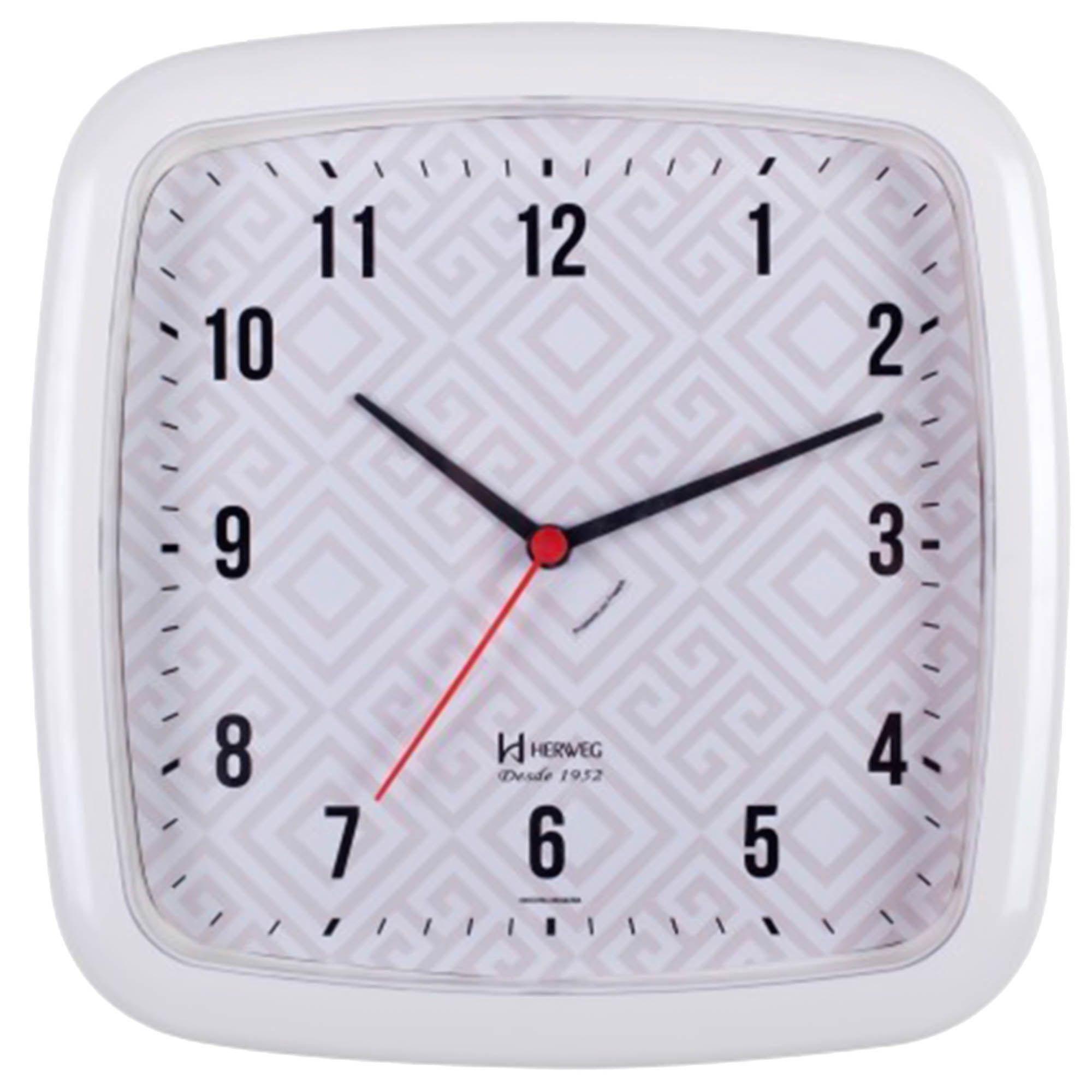 Relógio de Parede Analógico Herweg 660031 021 Branco
