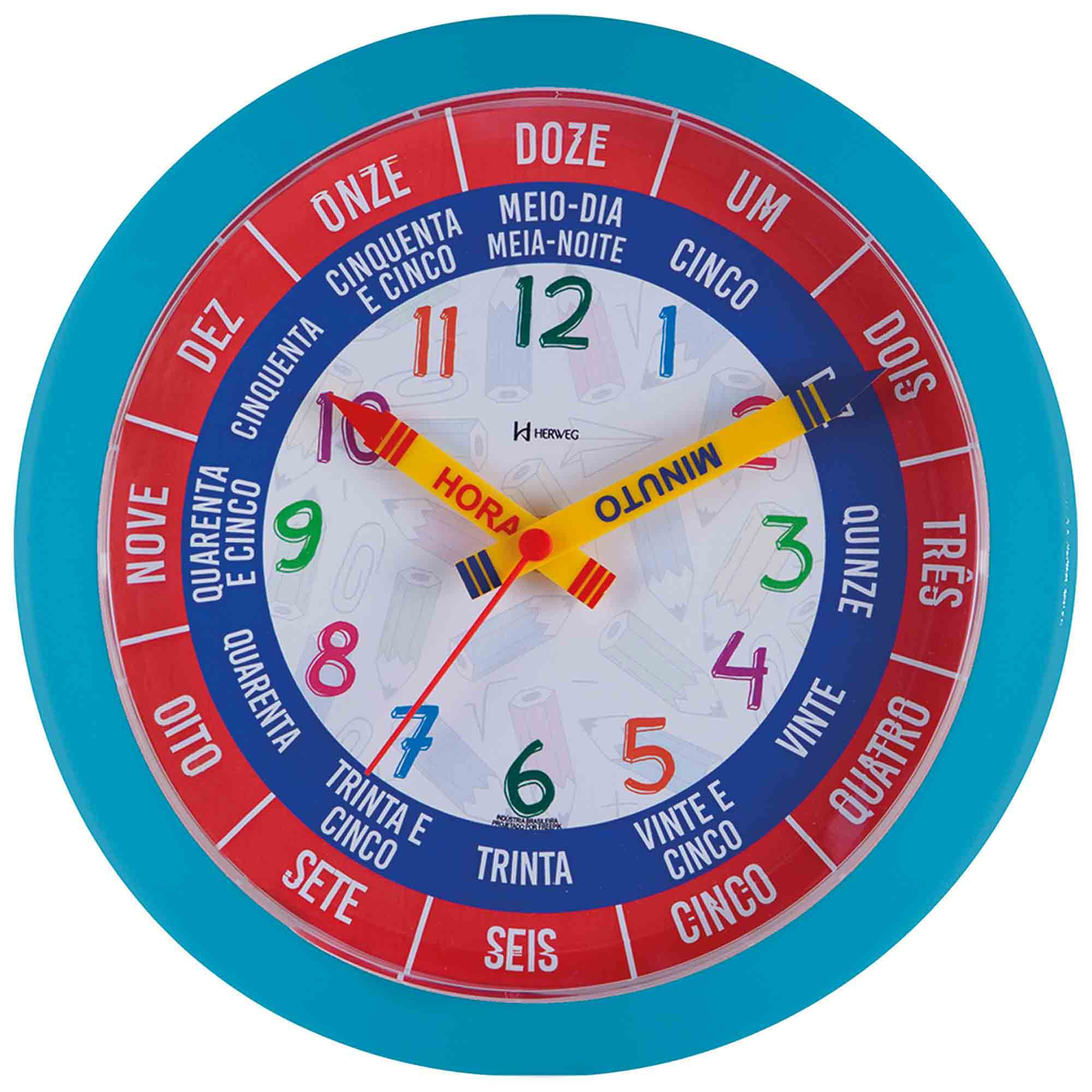 Relógio de Parede Analógico Herweg 660046 267 Turquesa Pantone