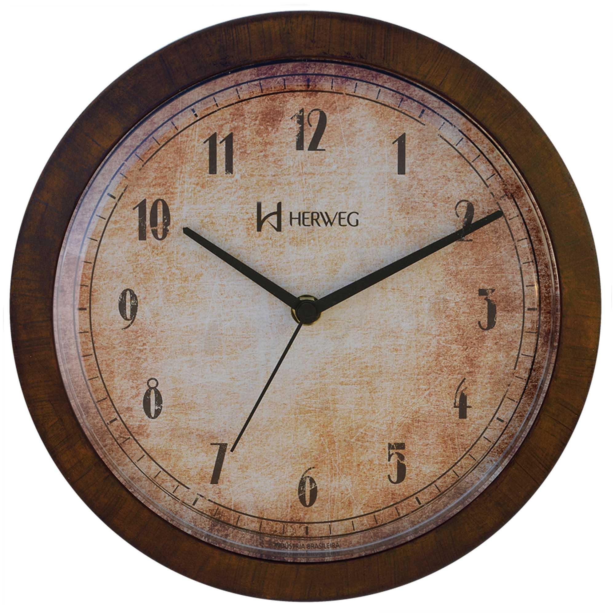 Relógio de Parede Analógico Herweg 6655 272 Ferrugem