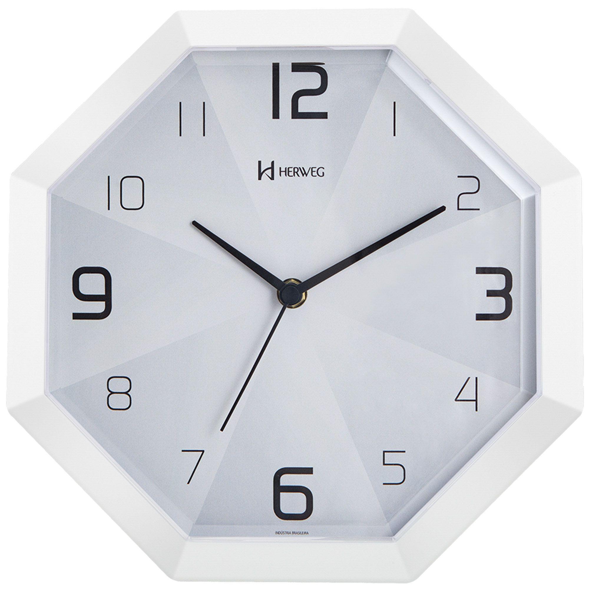 Relógio de Parede Analógico Herweg 6662 021 Branco