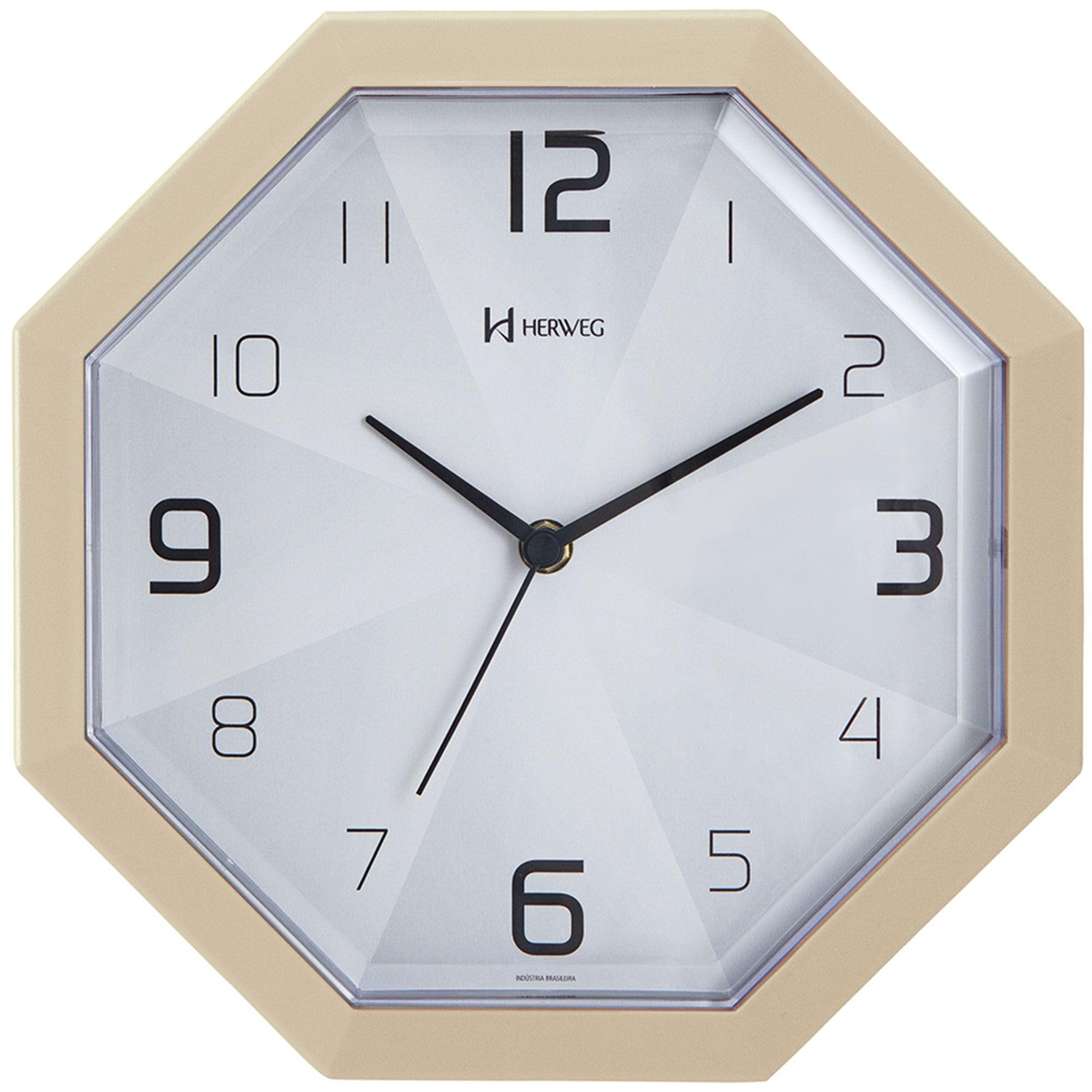 Relógio de Parede Analógico Herweg 6662 032 Marfim