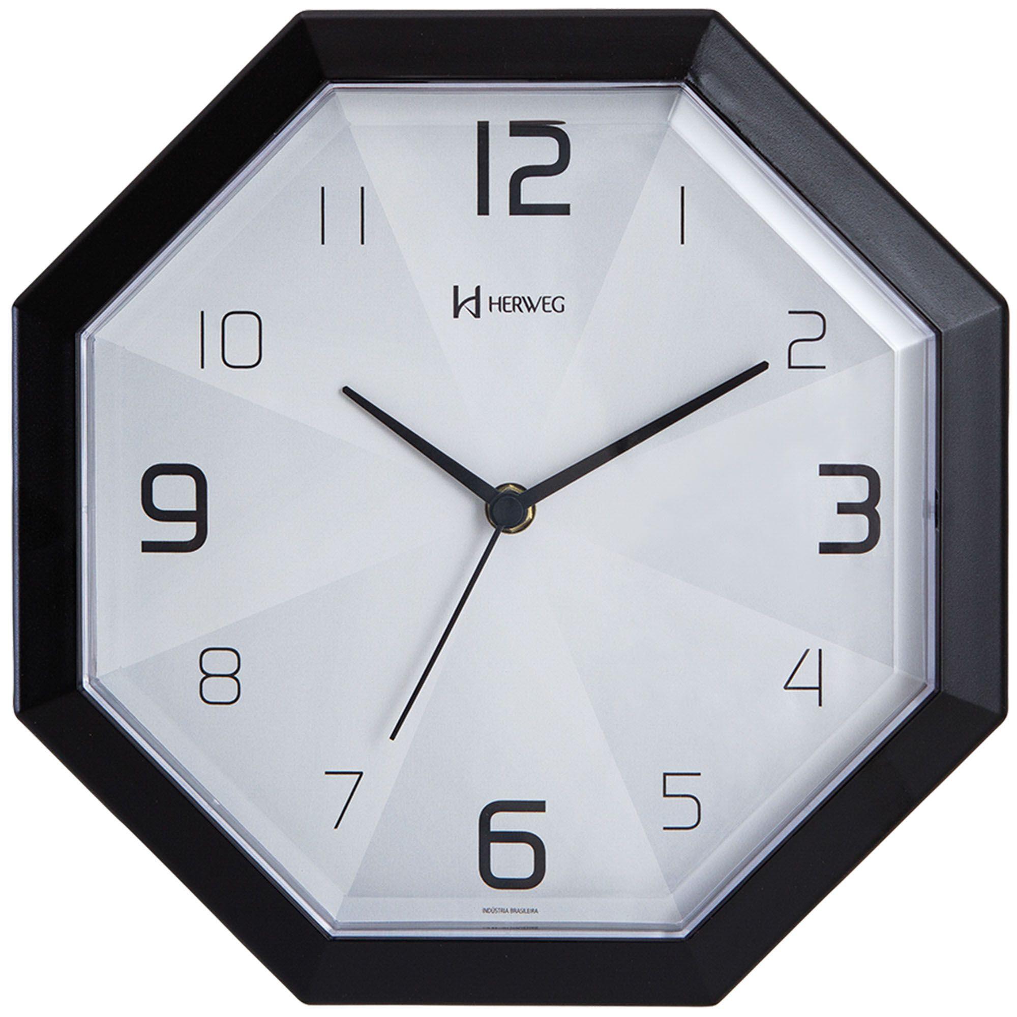 Relógio de Parede Analógico Herweg 6662 034 Preto
