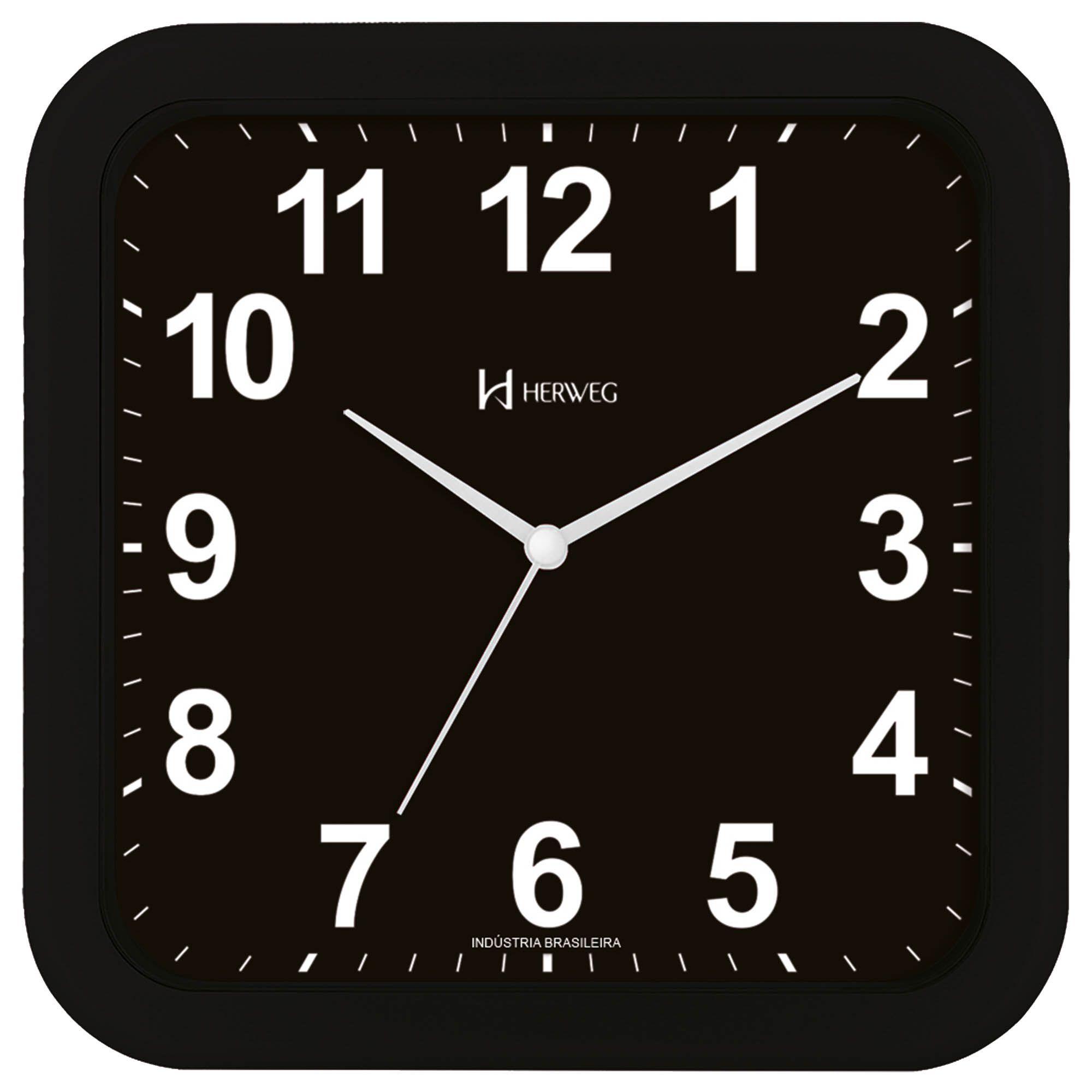 Relógio de Parede Analógico Herweg 6670 034 Preto