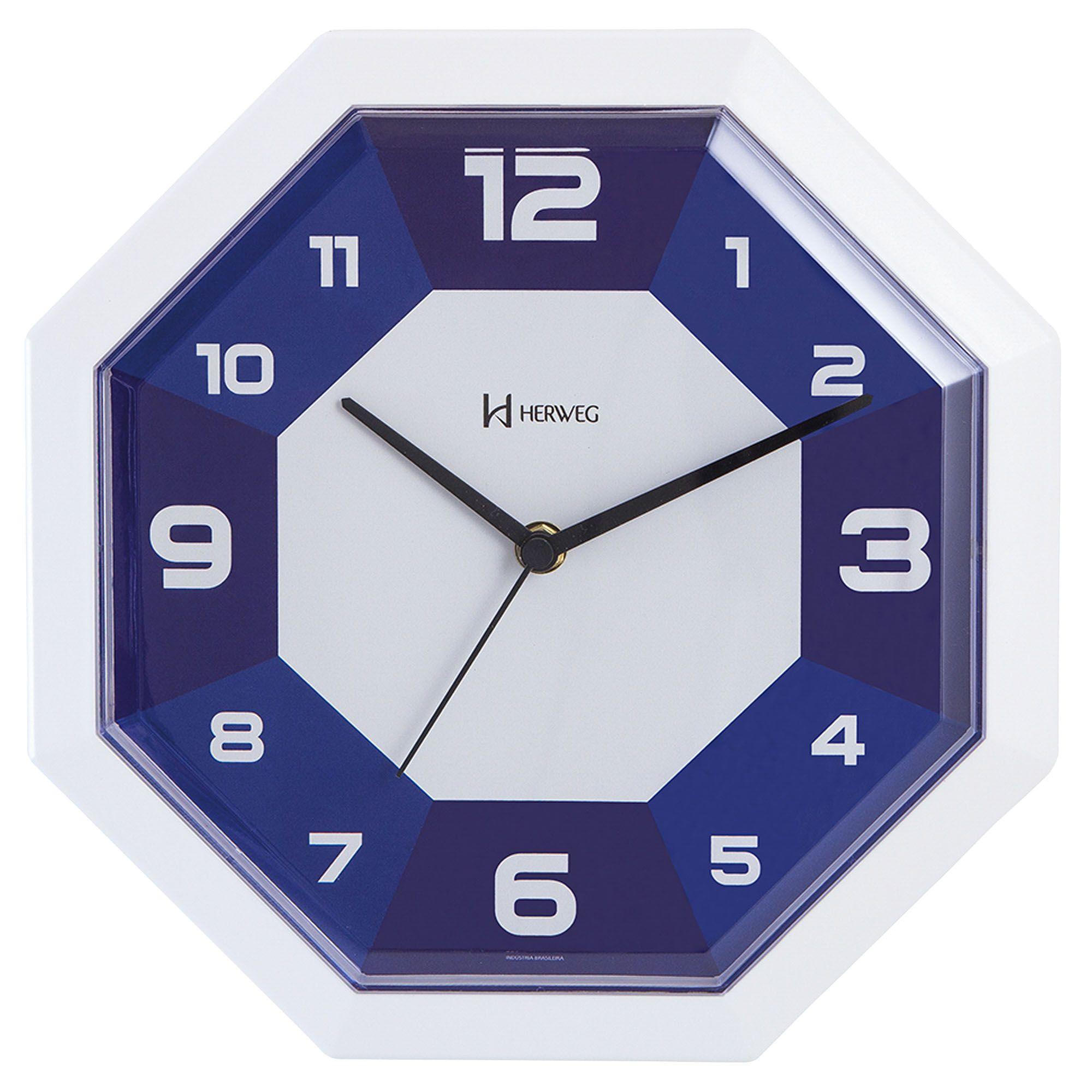 Relógio de Parede Analógico Herweg 6683 011 Azul