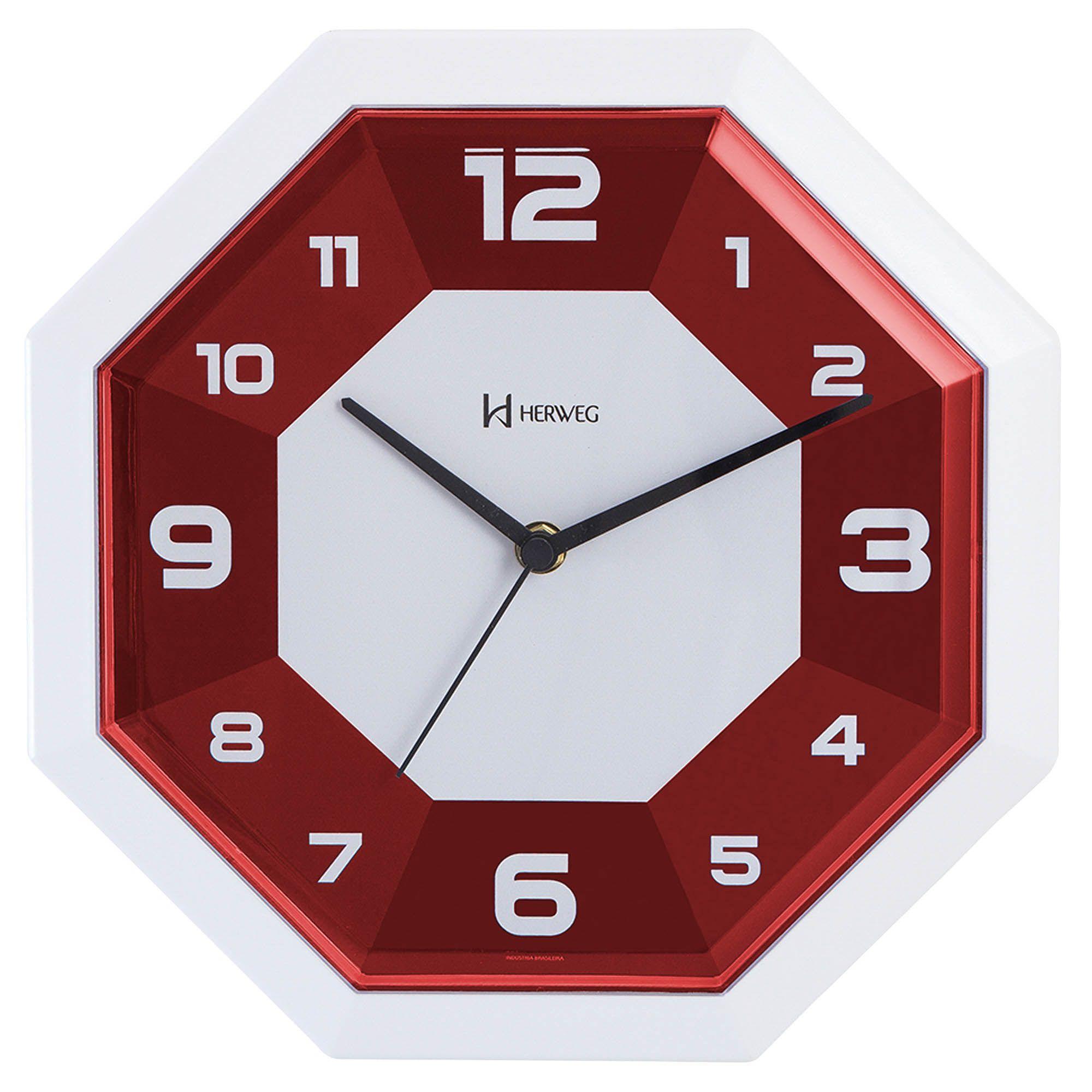 Relógio de Parede Analógico Herweg 6683 044 Vermelho