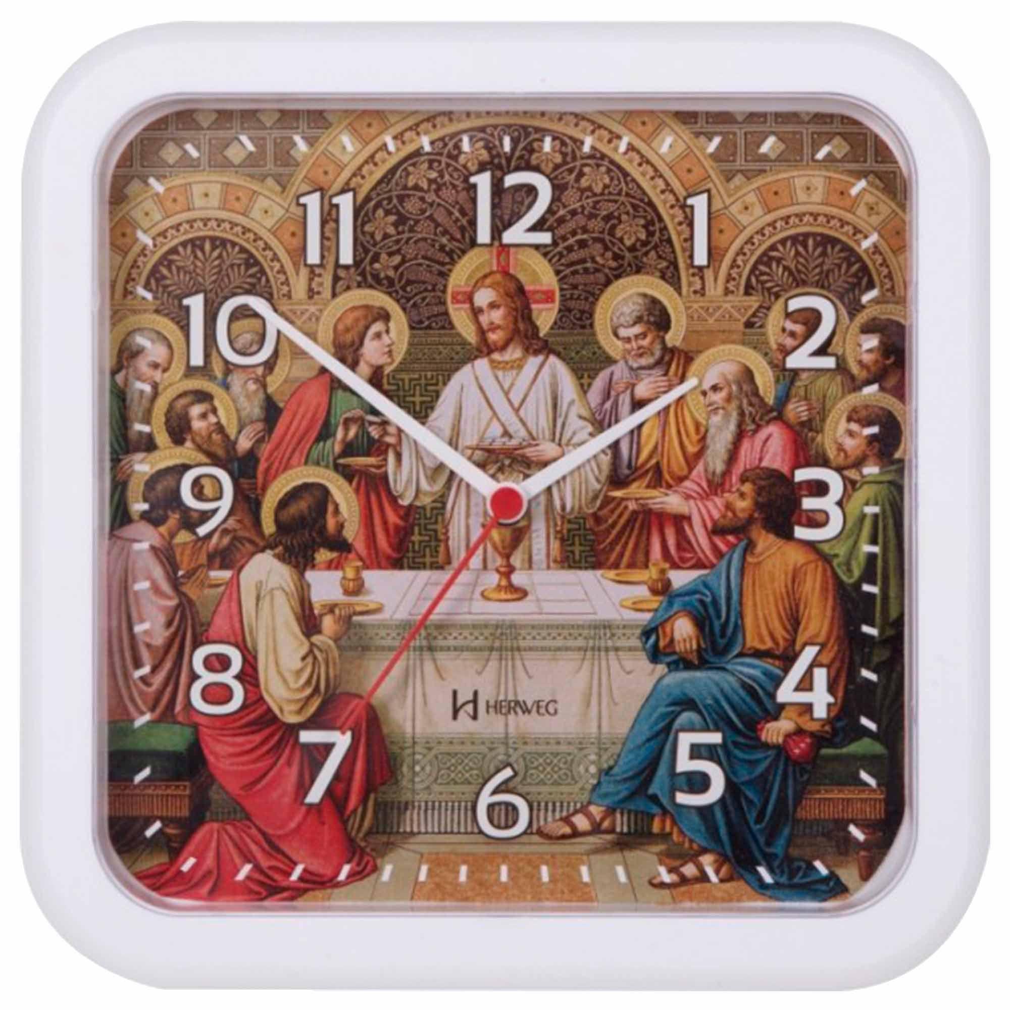Relógio de Parede Analógico Herweg 6696 021 Branco