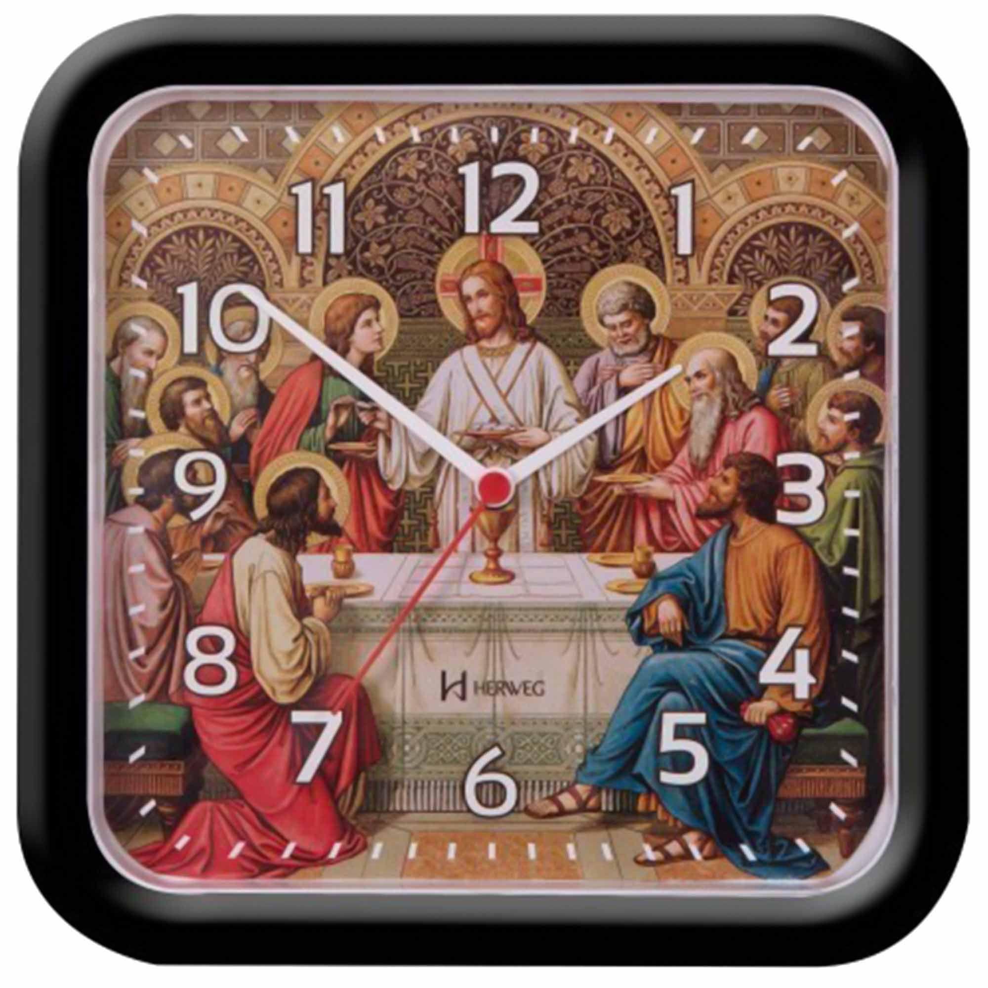 Relógio de Parede Analógico Herweg 6696 034 Preto