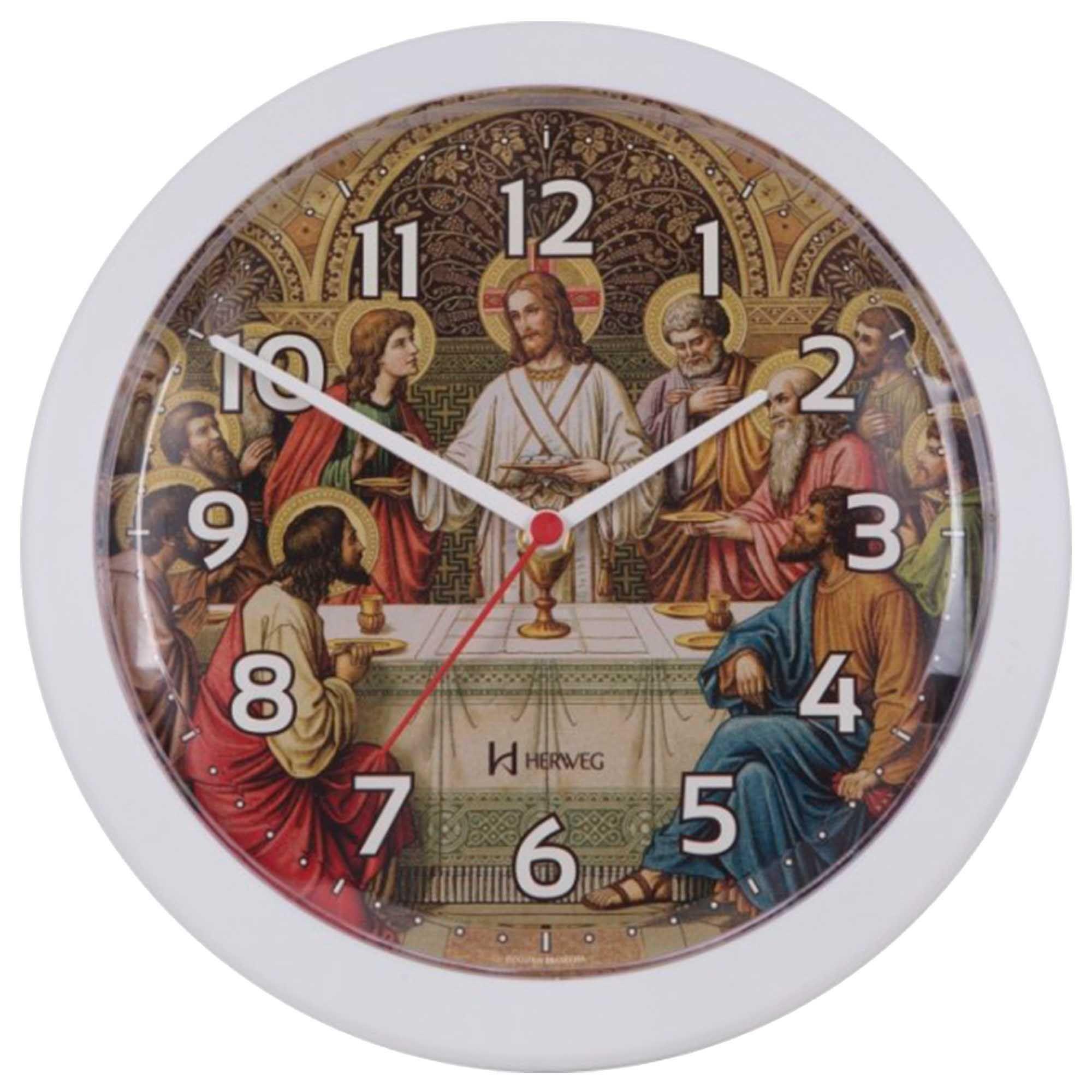 Relógio de Parede Analógico Herweg 6697 021 Branco