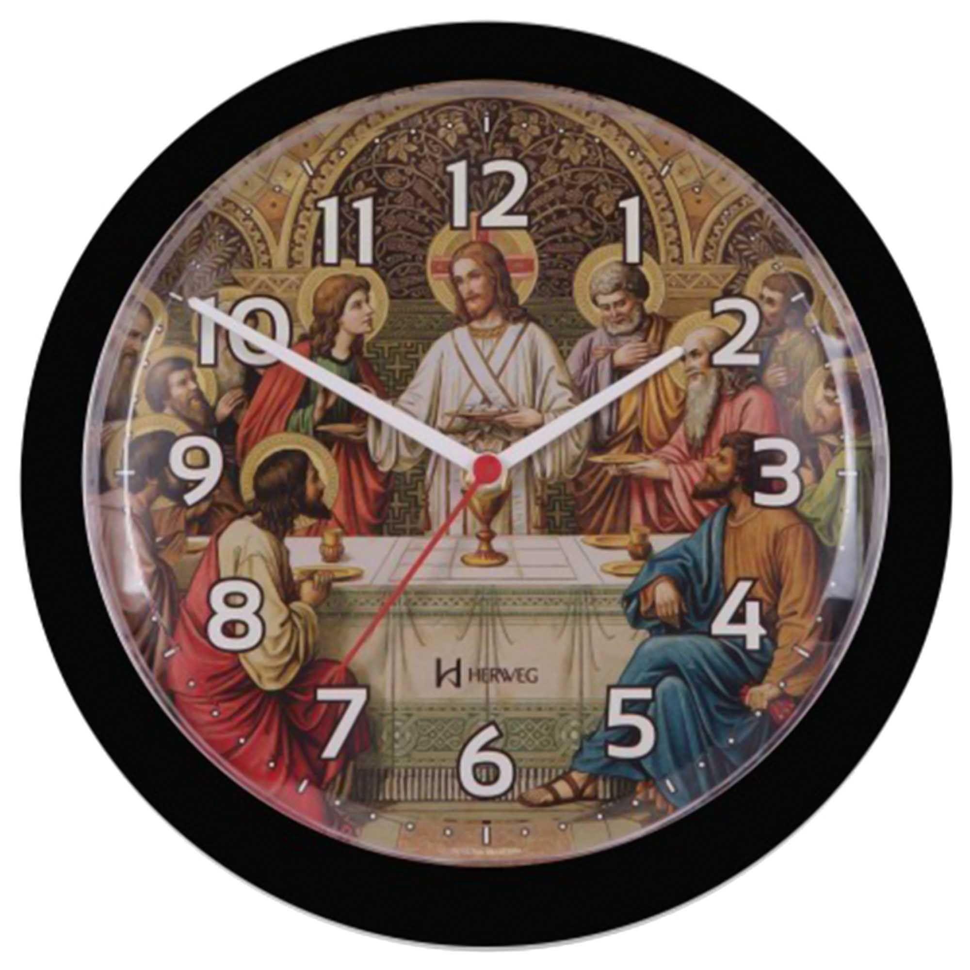 Relógio de Parede Analógico Herweg 6697 034 Preto
