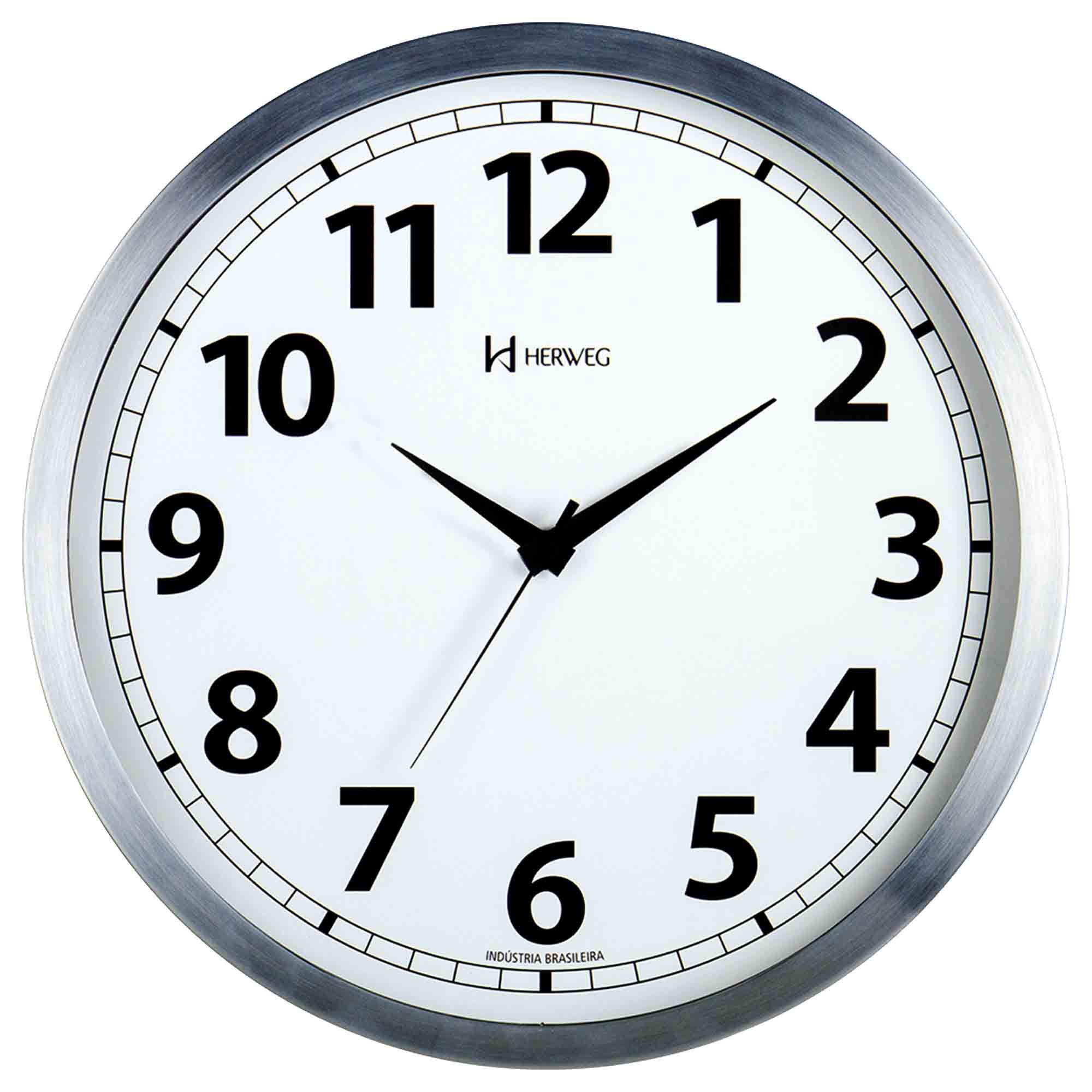 Relógio de Parede Analógico Herweg 6710 079 Alumínio