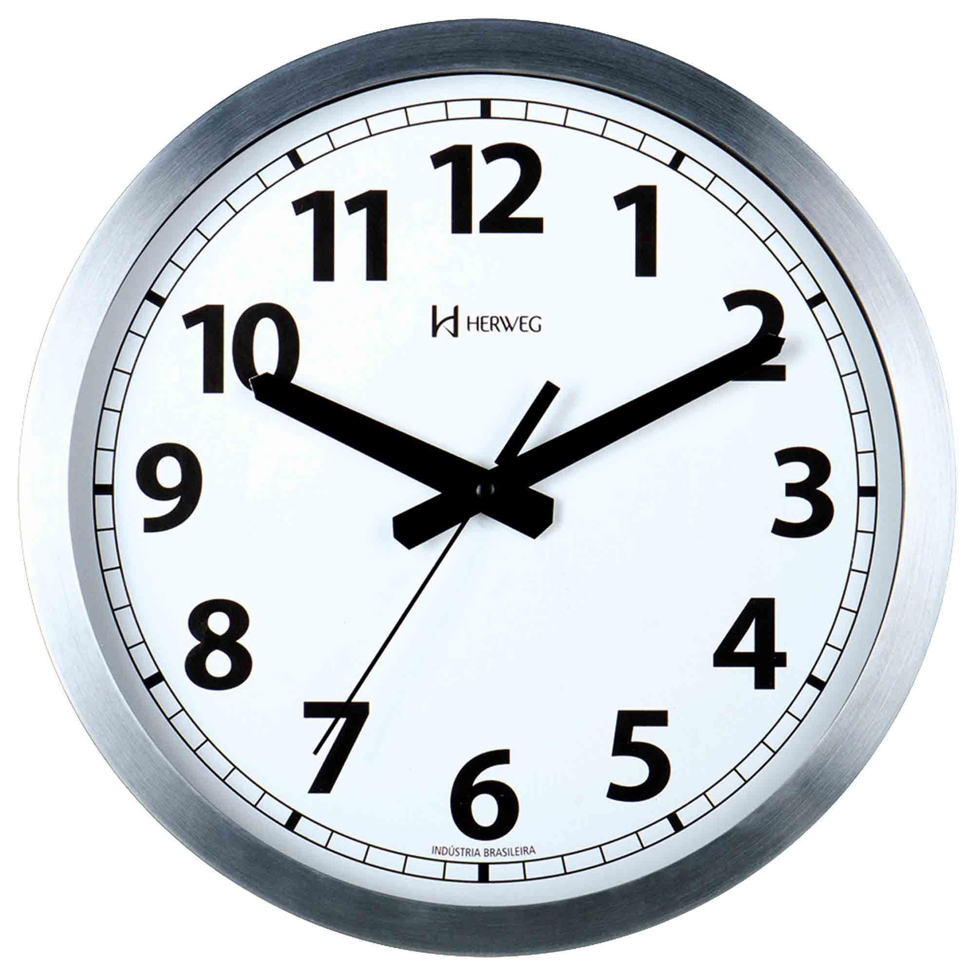 Relógio de Parede Analógico Herweg 6711 079 Alumínio