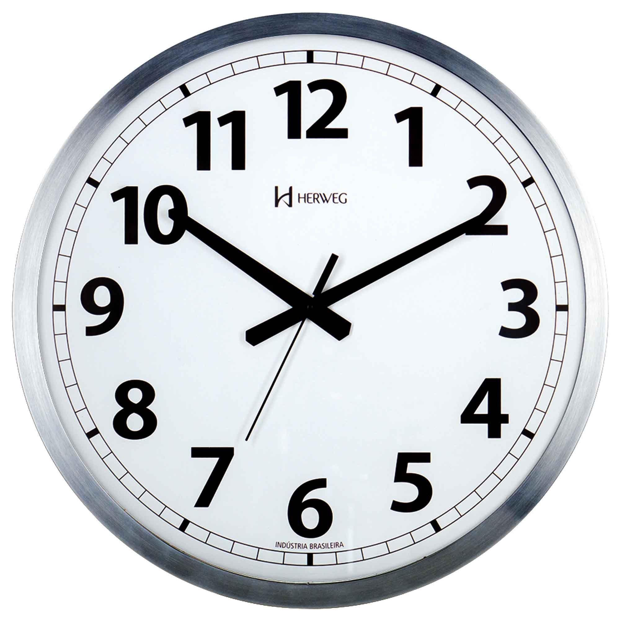 Relógio de Parede Analógico Herweg 6712 079 Alumínio