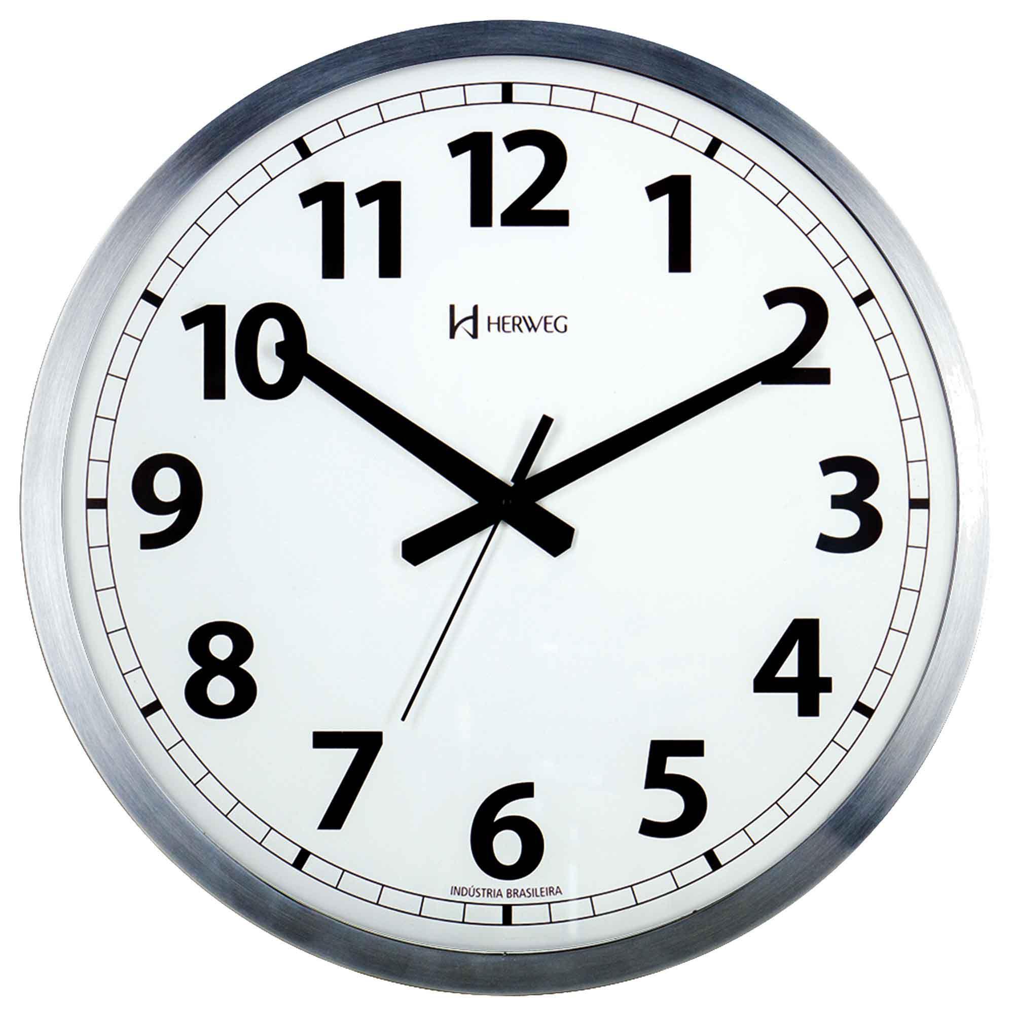 Relógio de Parede Analógico Herweg 6713 079 Alumínio