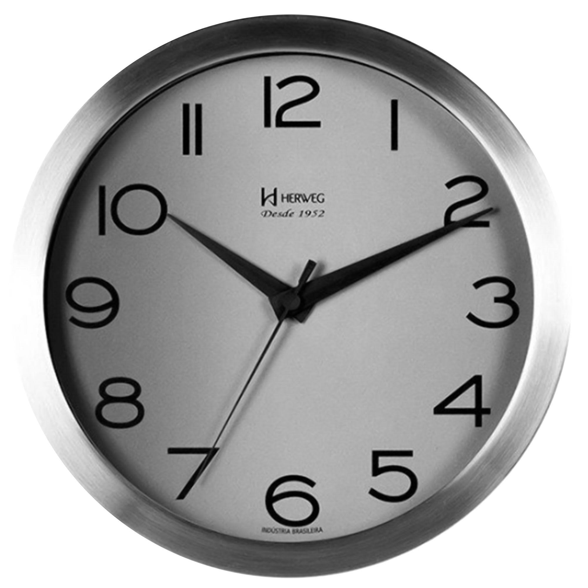 Relógio de Parede Analógico Herweg 6714 079 Alumínio
