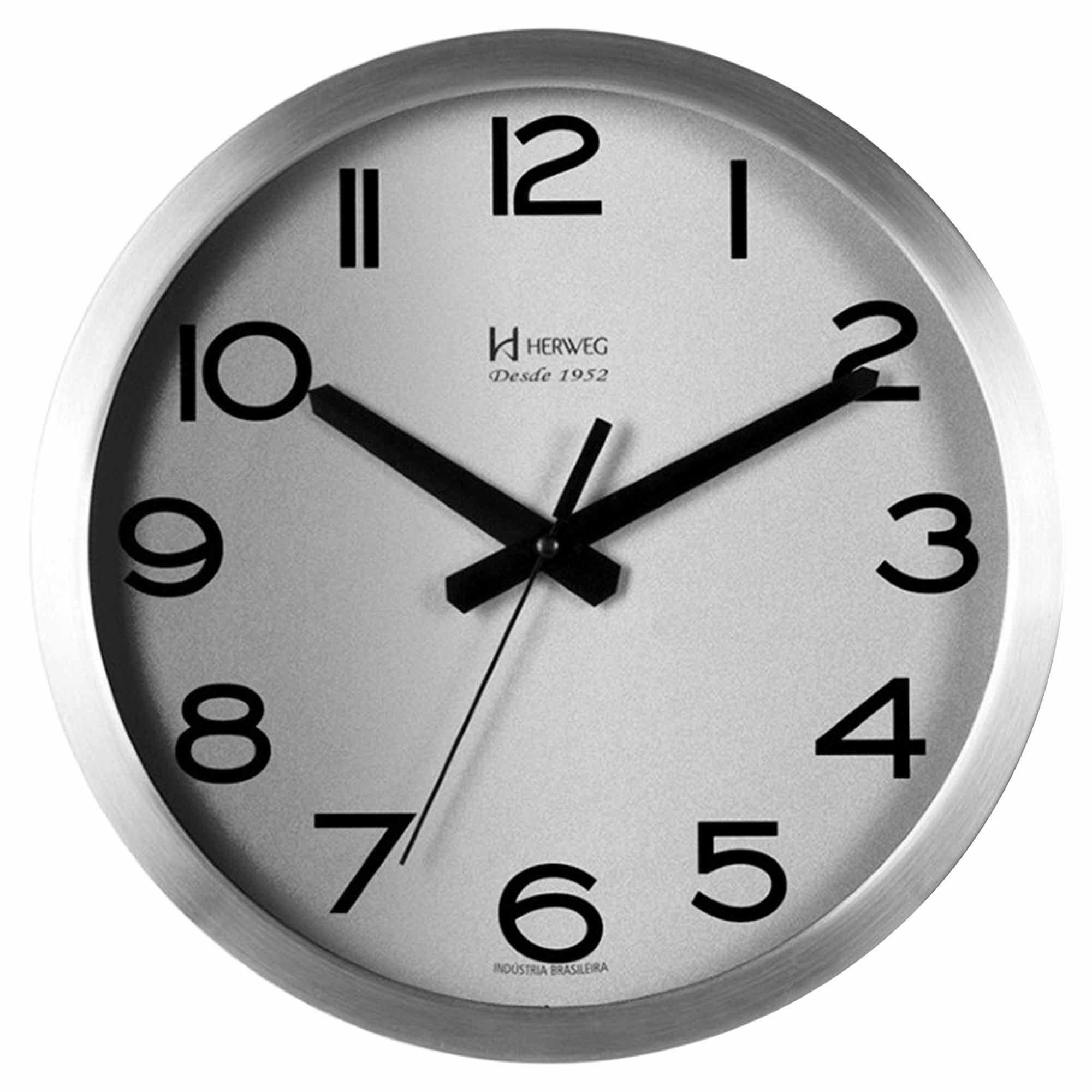Relógio de Parede Analógico Herweg 6715 079 Alumínio