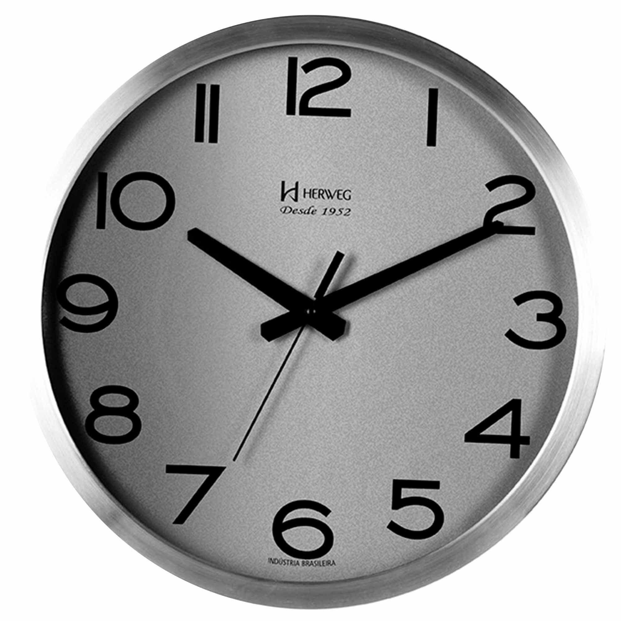 Relógio de Parede Analógico Herweg 6716 079 Alumínio