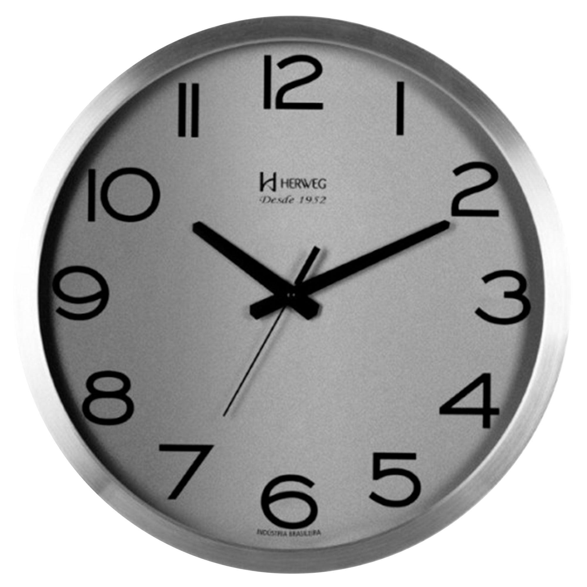 Relógio de Parede Analógico Herweg 6717 079 Alumínio