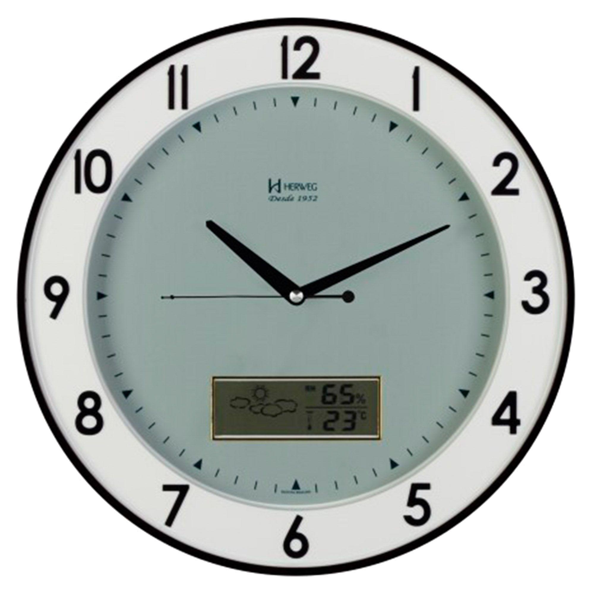 Relógio de Parede Anadigi Herweg 6805 034 Preto