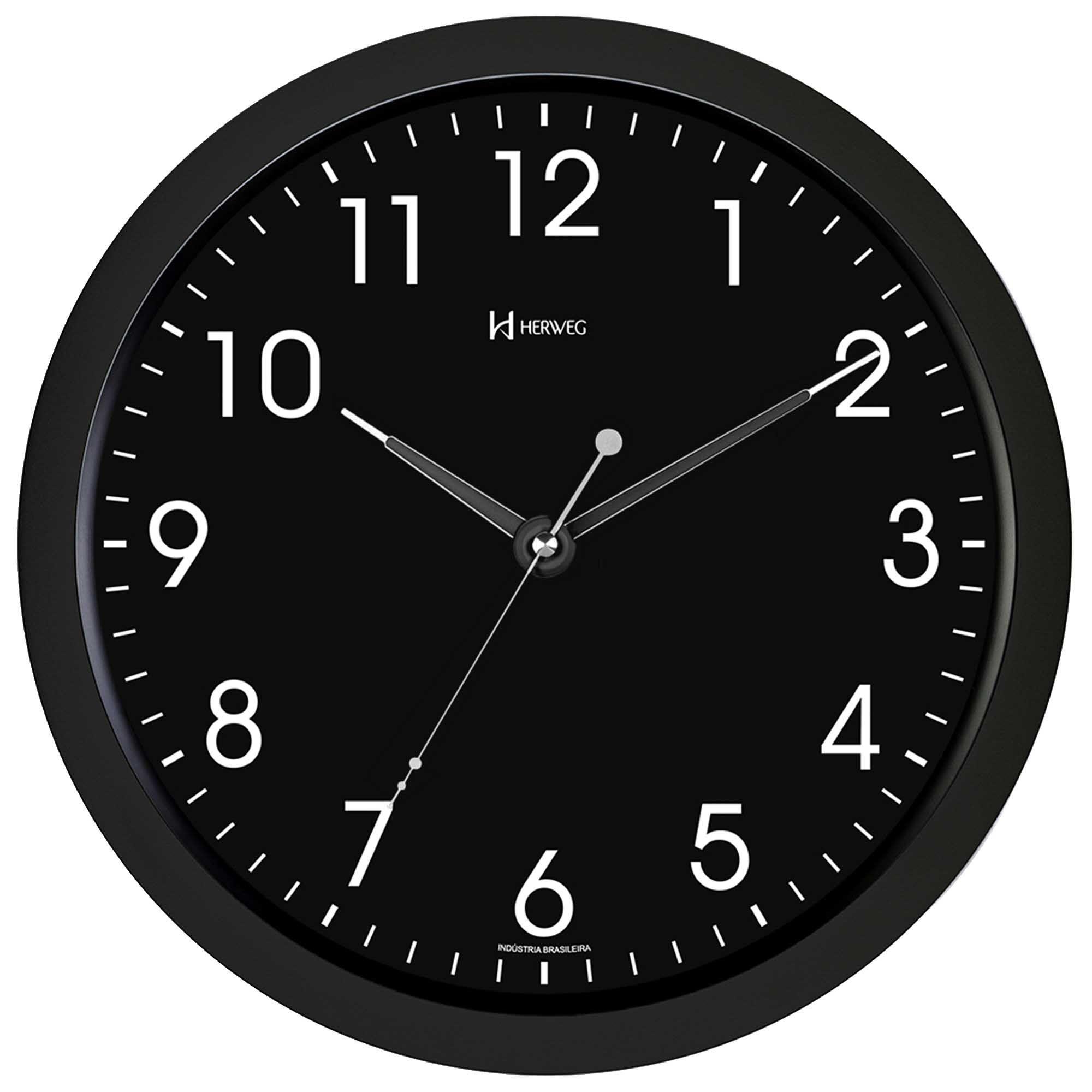 Relógio de Parede Analógico Herweg 6809 034 Preto