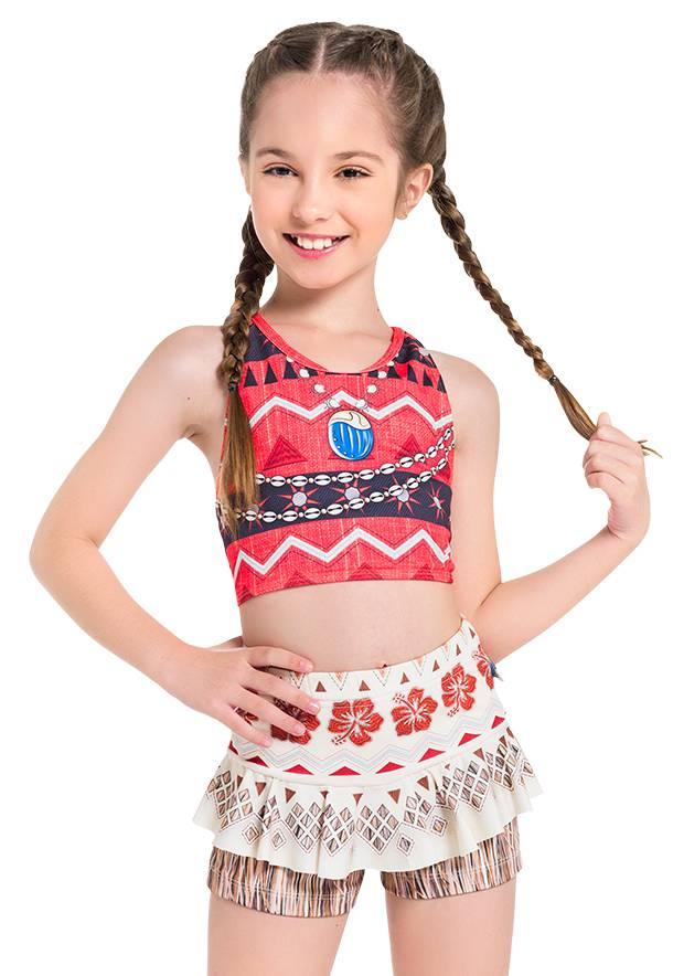Biquini Infantil Princesa Havaiana