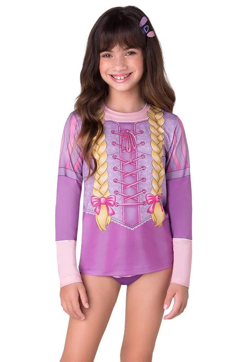 Blusa UV Princesa de Tranças