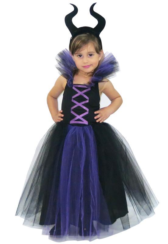 Fantasia Infantil Bruxa Malévola Halloween