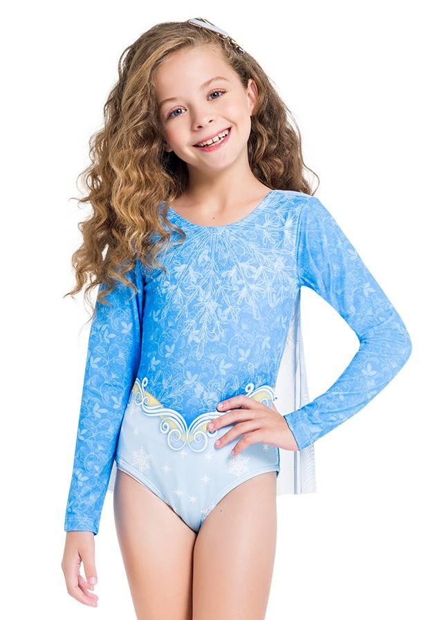 Maiô Infantil Rainha do Gelo - Elsa Frozen