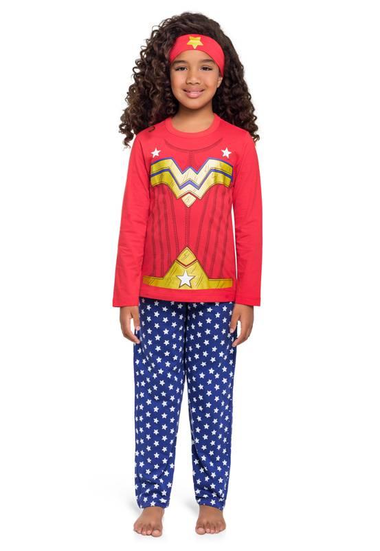 Pijama - Fantasia Mulher Maravilha Longo