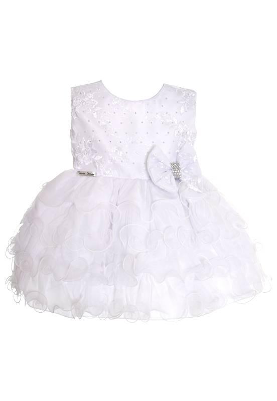 Vestido Branco com Babado Luxo - G