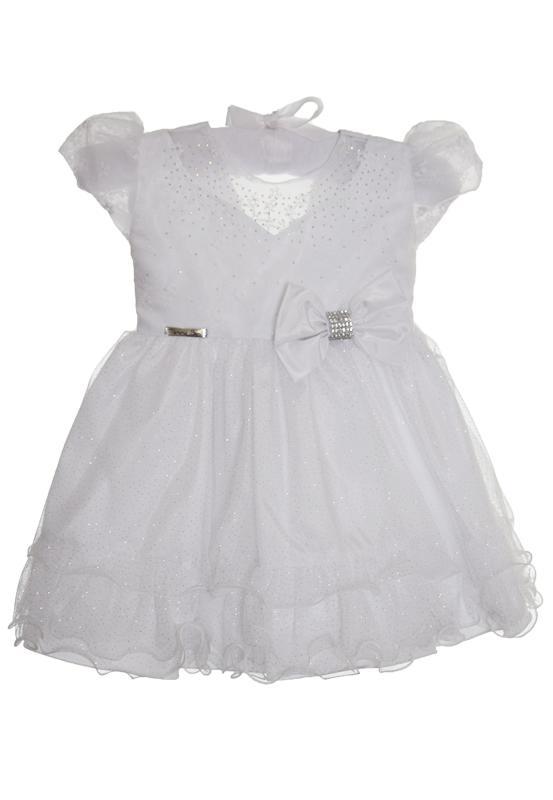 Vestido Branco com Glitter Luxo